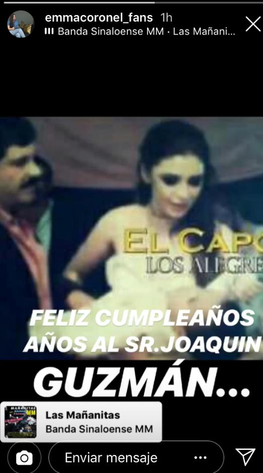 La cuenta Emma Coronel fans también aprovechó para felicitar al capo (Foto: therealemmacoronel)