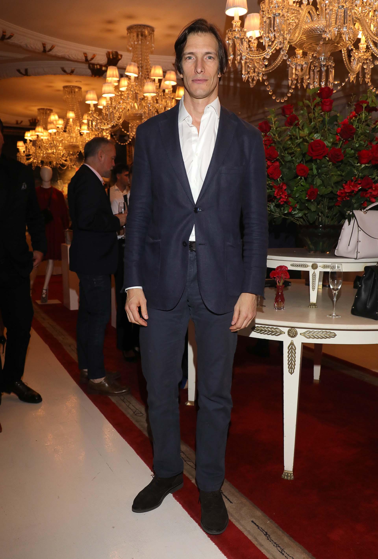 Iván De Pineda en la presentación de la colección de Salvatore Ferragamo, que se llevó a cabo en el Faena Hotel Buenos Aires