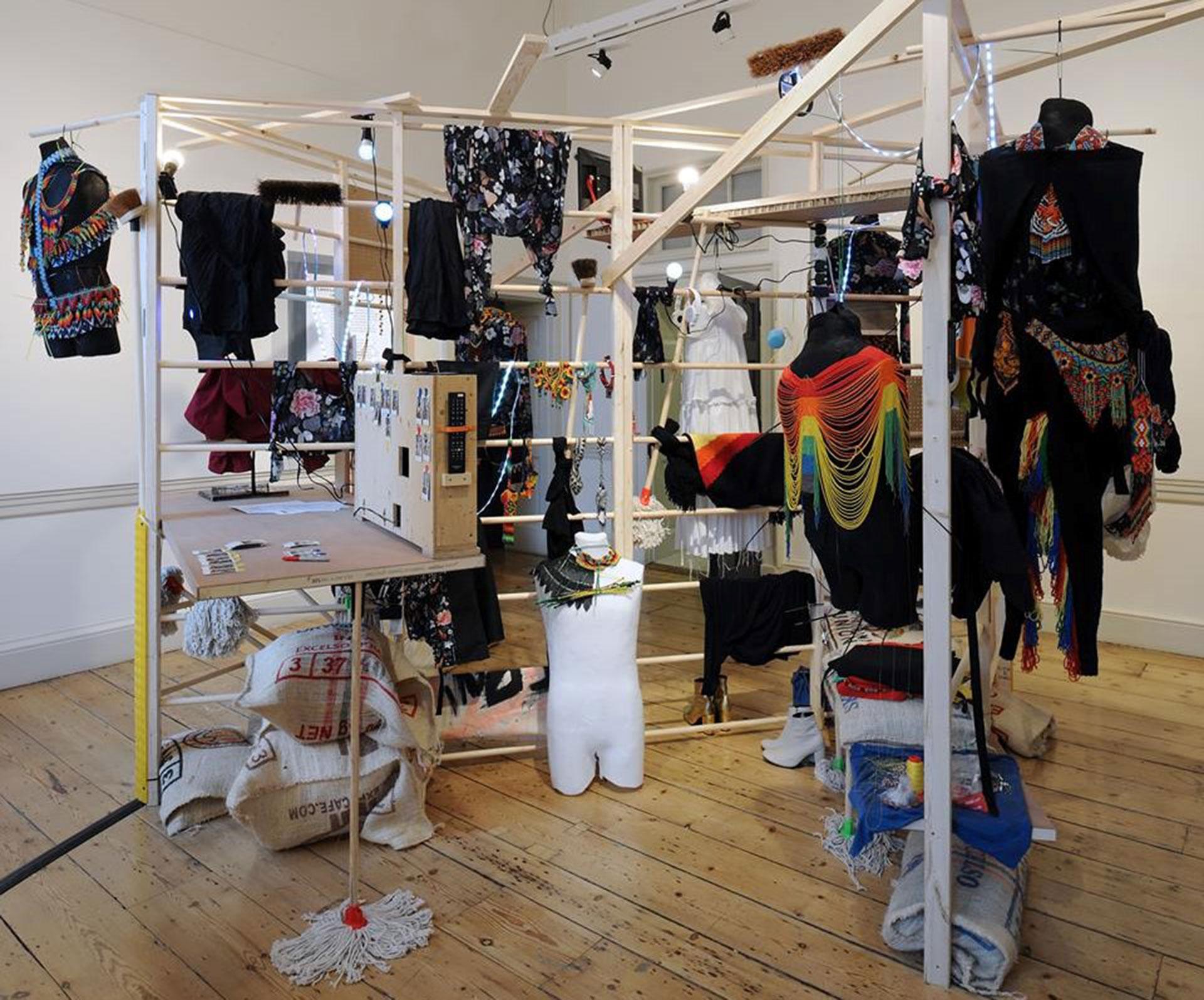 El stand de Laurens en el International Fashion Showcase (IFS) en el centro artístico Somerset House, en febrero pasado en Londres.