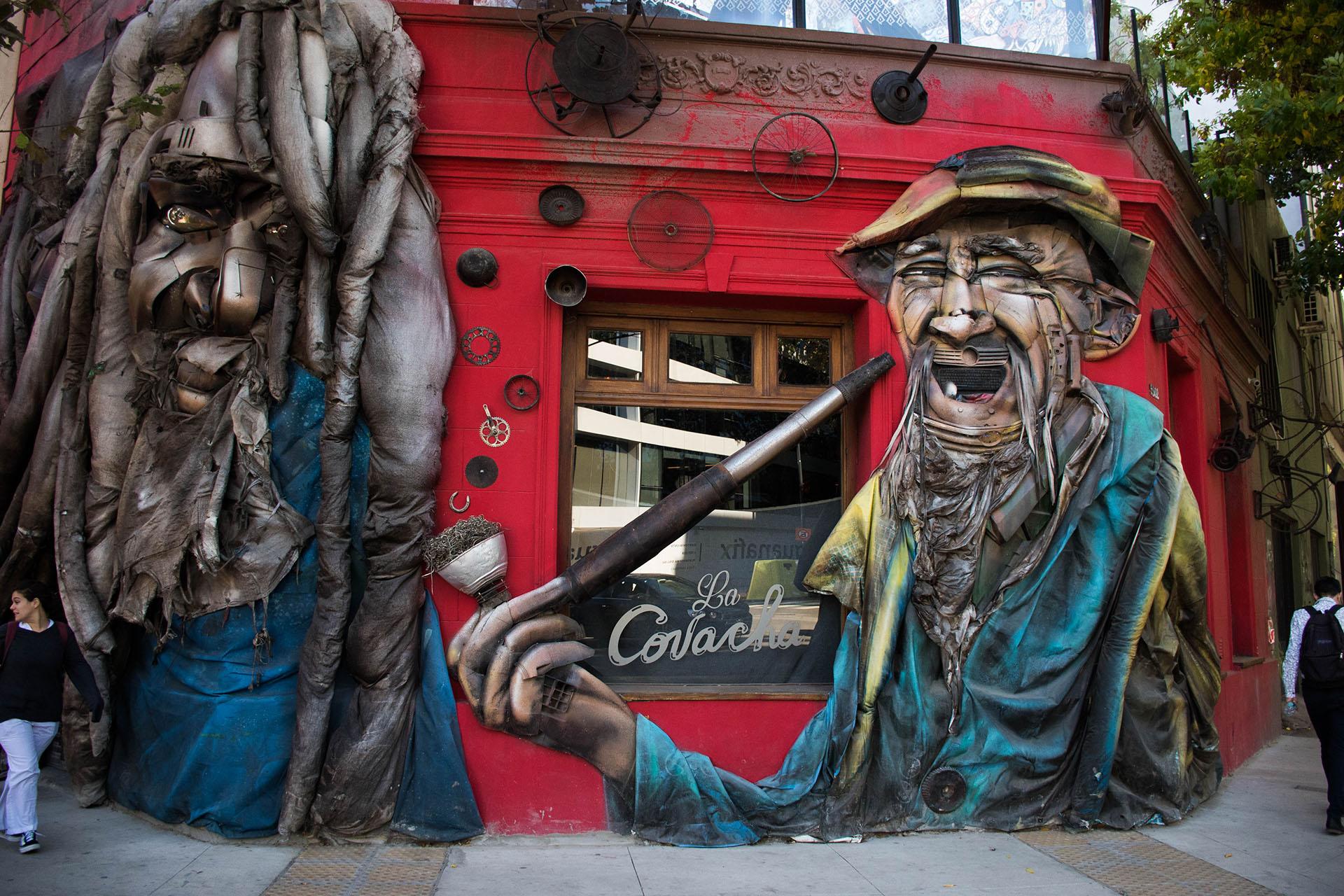 En Palermo Hollywood son varias las paredes intervenidas por artistas