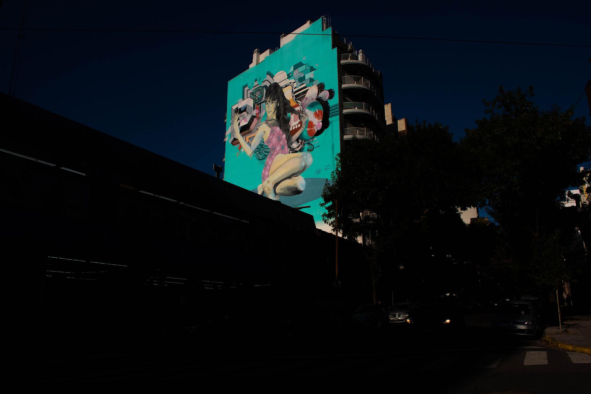 Los murales, otra característica del barrio