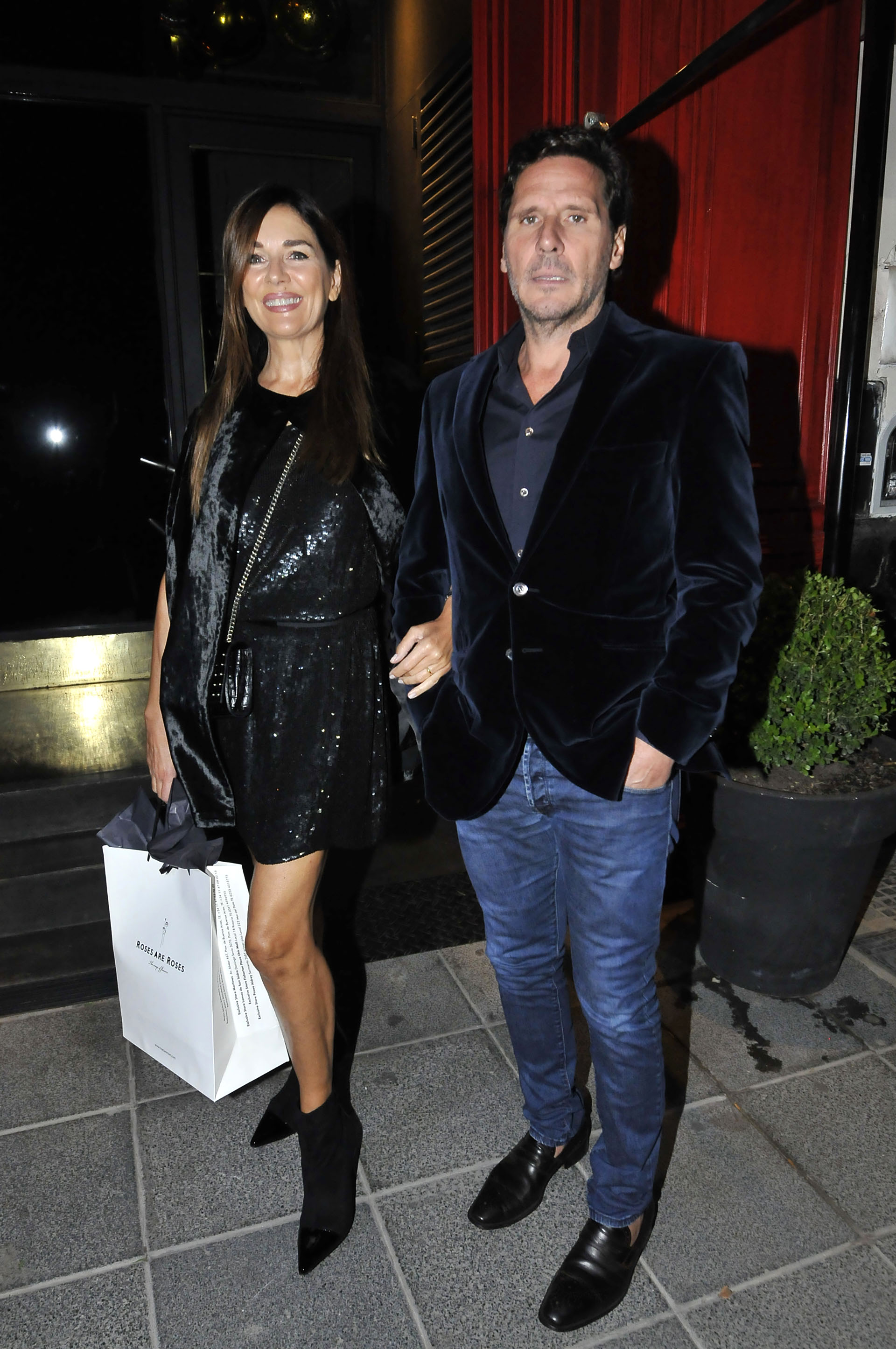 Andrea Frigerio llegó con Lucas Bocchino, su marido
