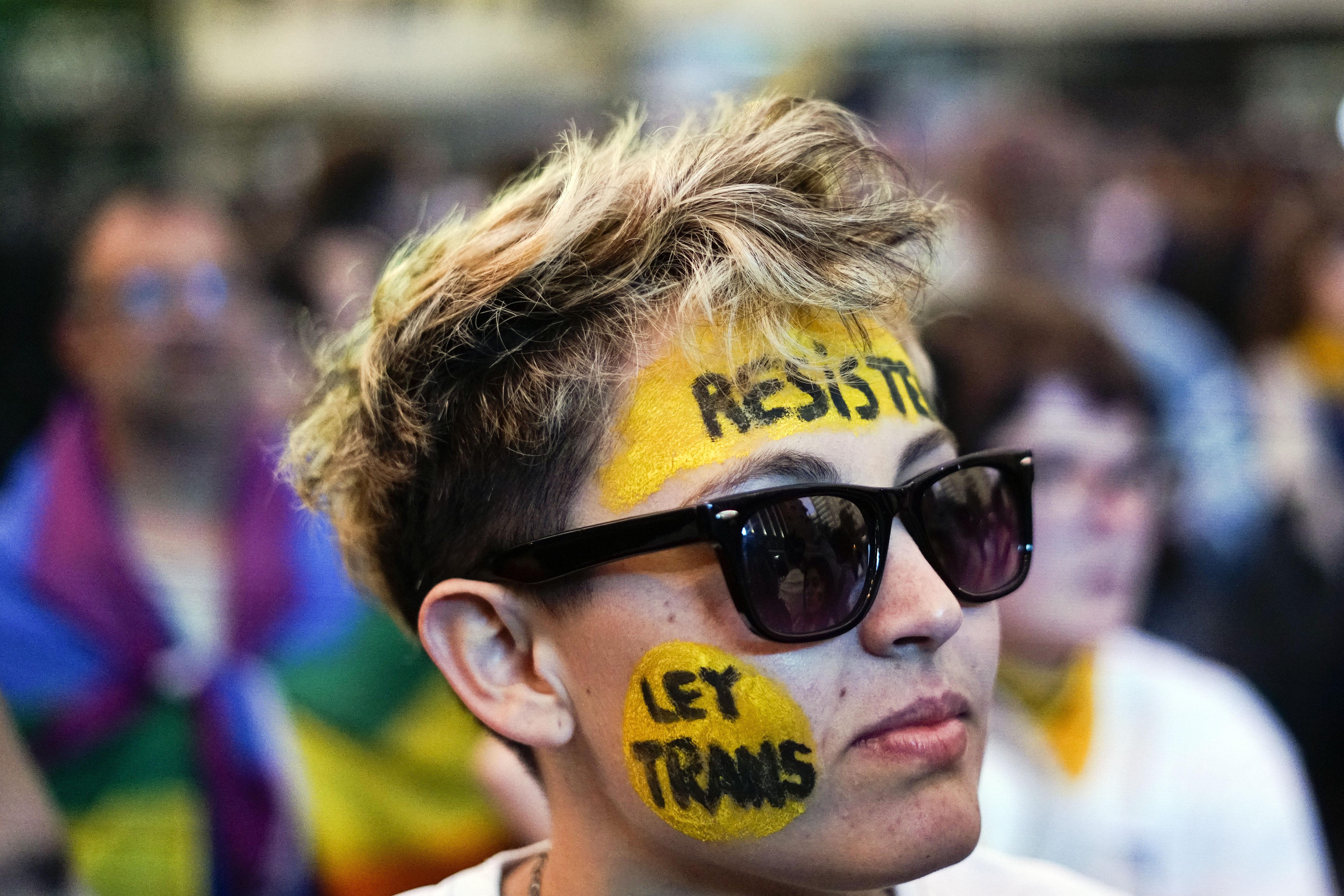 Marcha en Montevideo. (AP Photo/Matilde Campodonico)