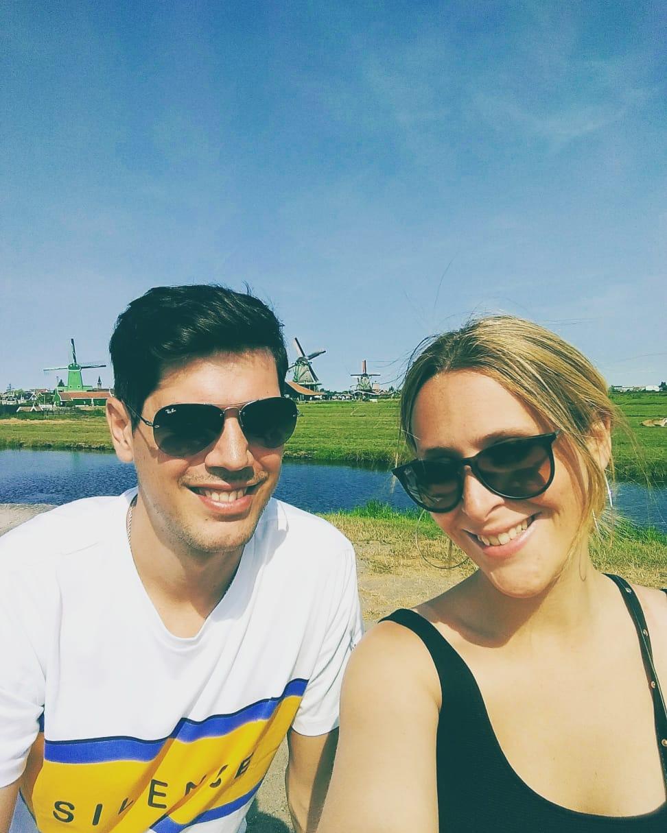 La pareja en Holanda