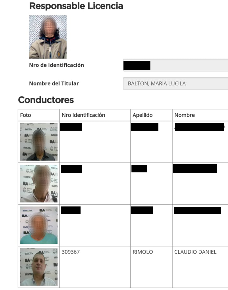 La titular del vehículo identificó al agresor como Claudio Daniel Rímolo en la Comisaría Vecinal 12 C del barrio de Villa Urquiza