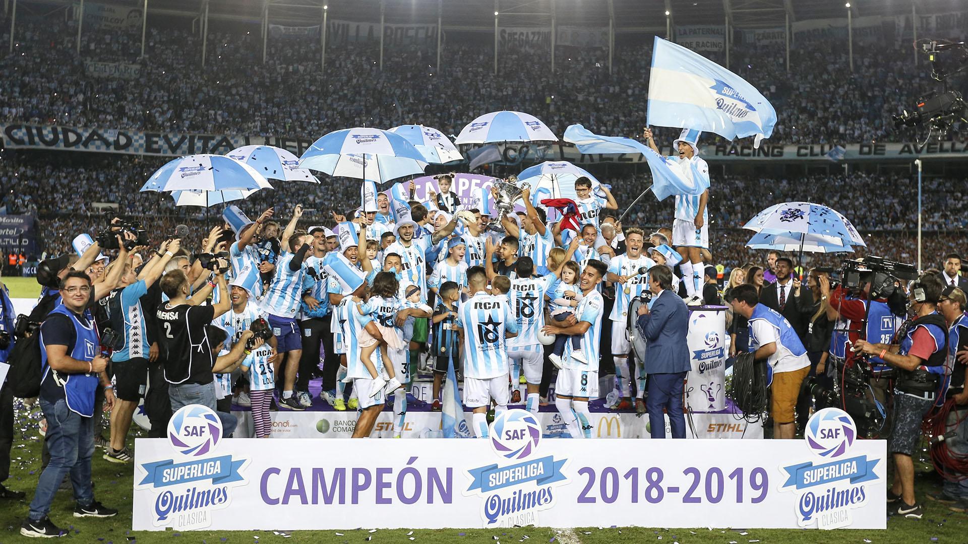 Racing se consagró campeón de la Superliga 2018/19 y sumó su título número 18 a nivel local