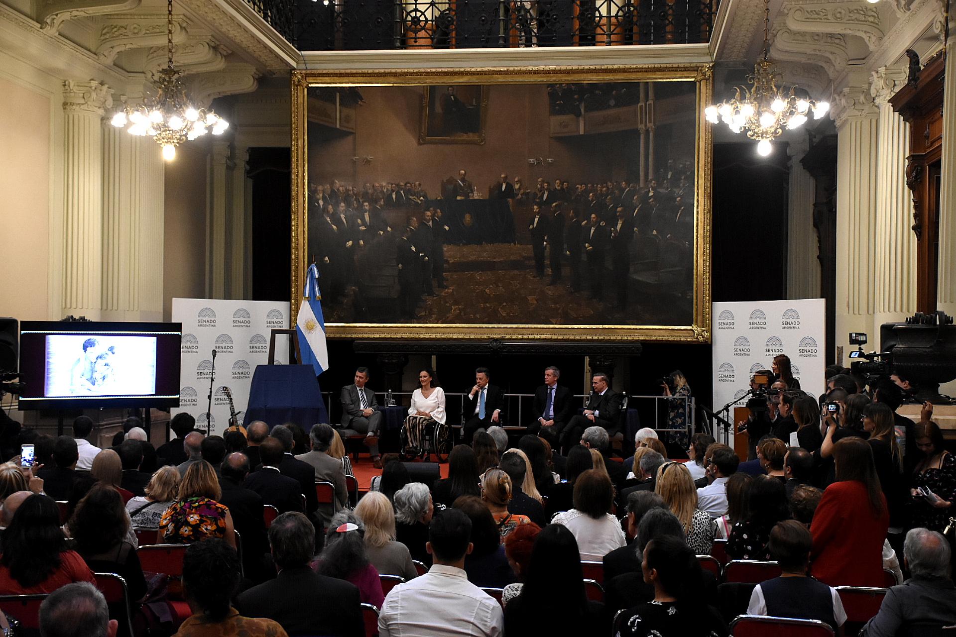 Gabriela Michetti presidió la ceremonia, realizada en el Salón de los Pasos Perdidos