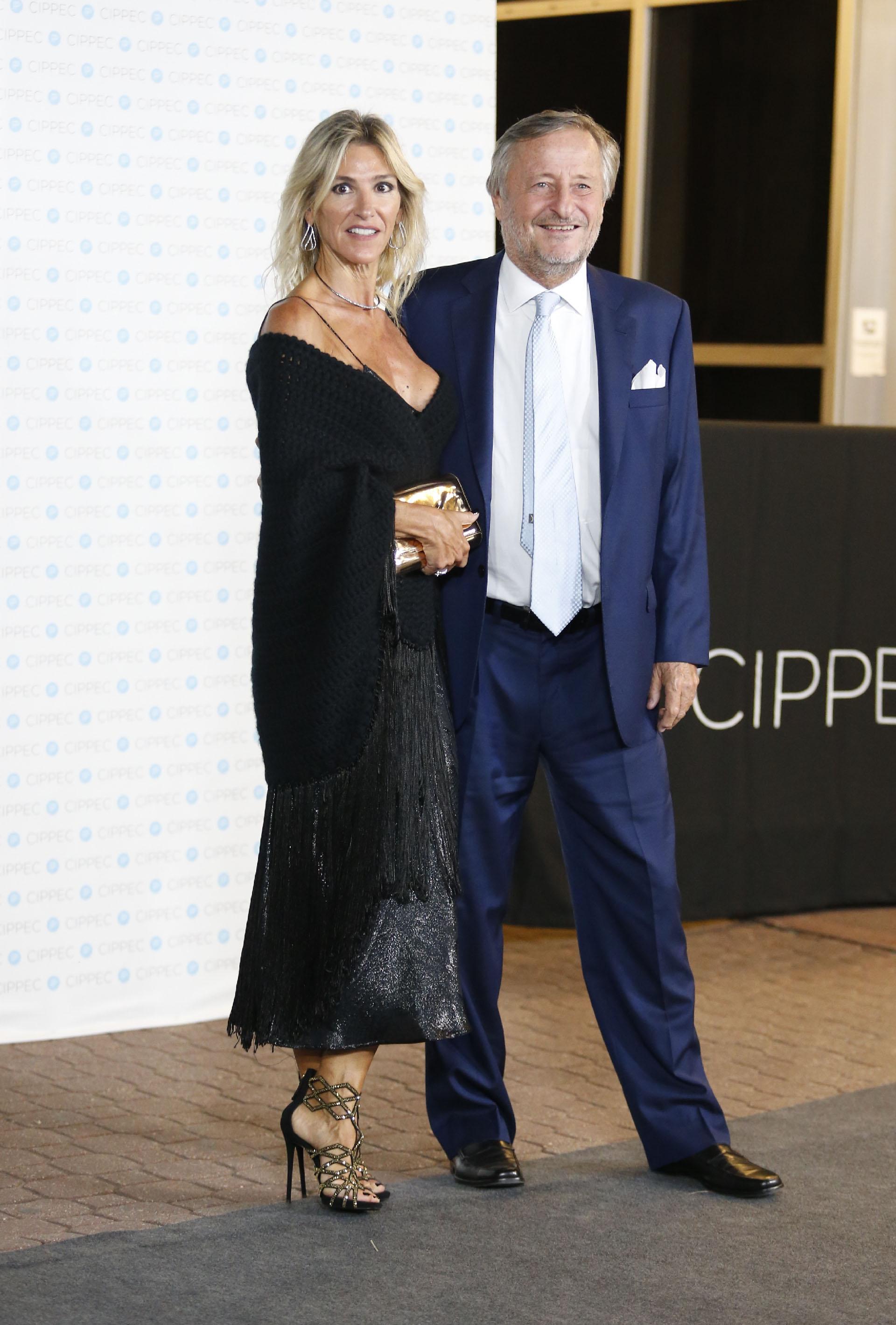 El presidente de FIAT Artgentina, Cristiano Rattazzi, y su pareja Gabriela Castellani