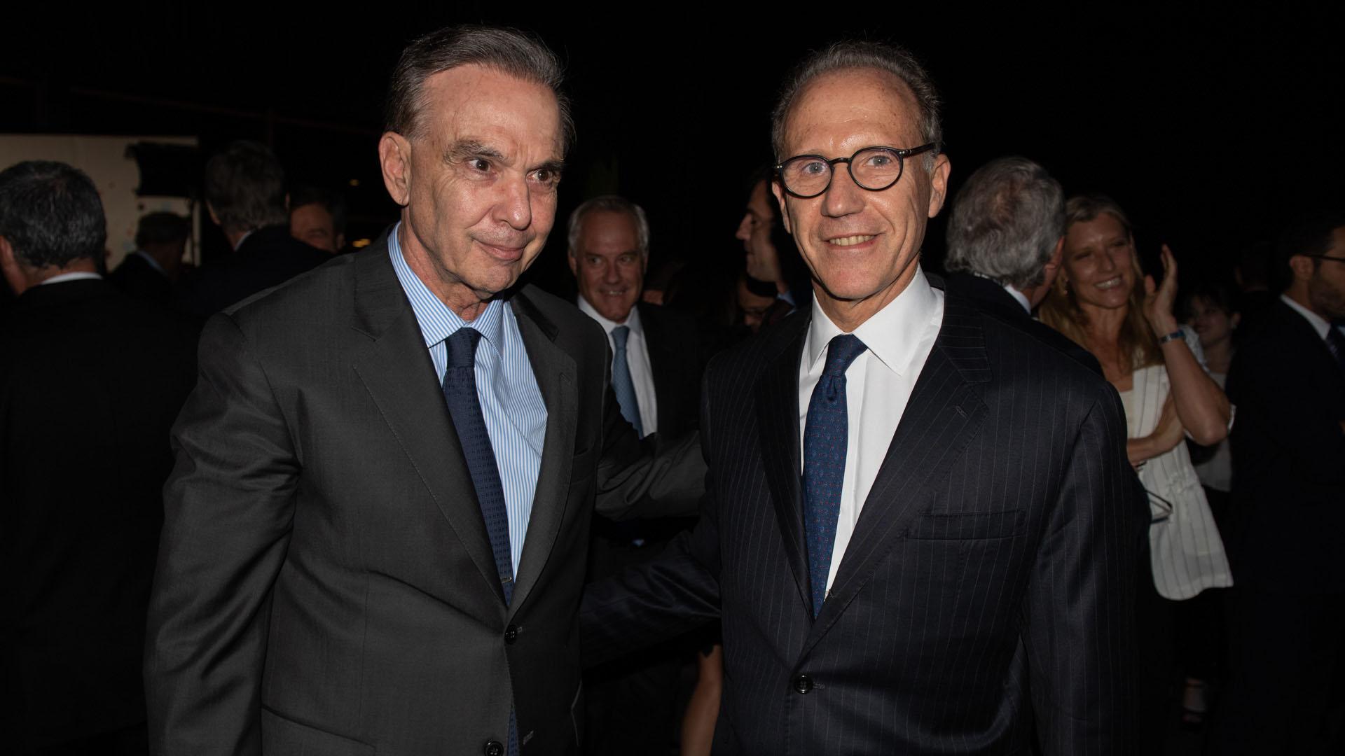 Miguel Angel Pichetto y el presidente de la Corte Suprema de Justicia, Carlos Rosenkrantz