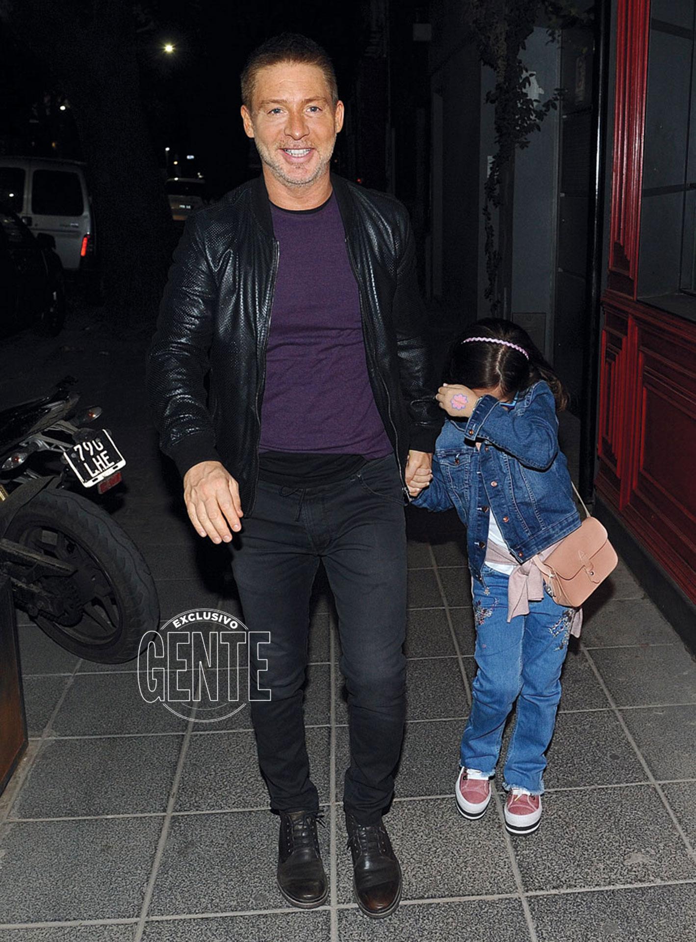 Adrián Suar y su hija, Margarita.