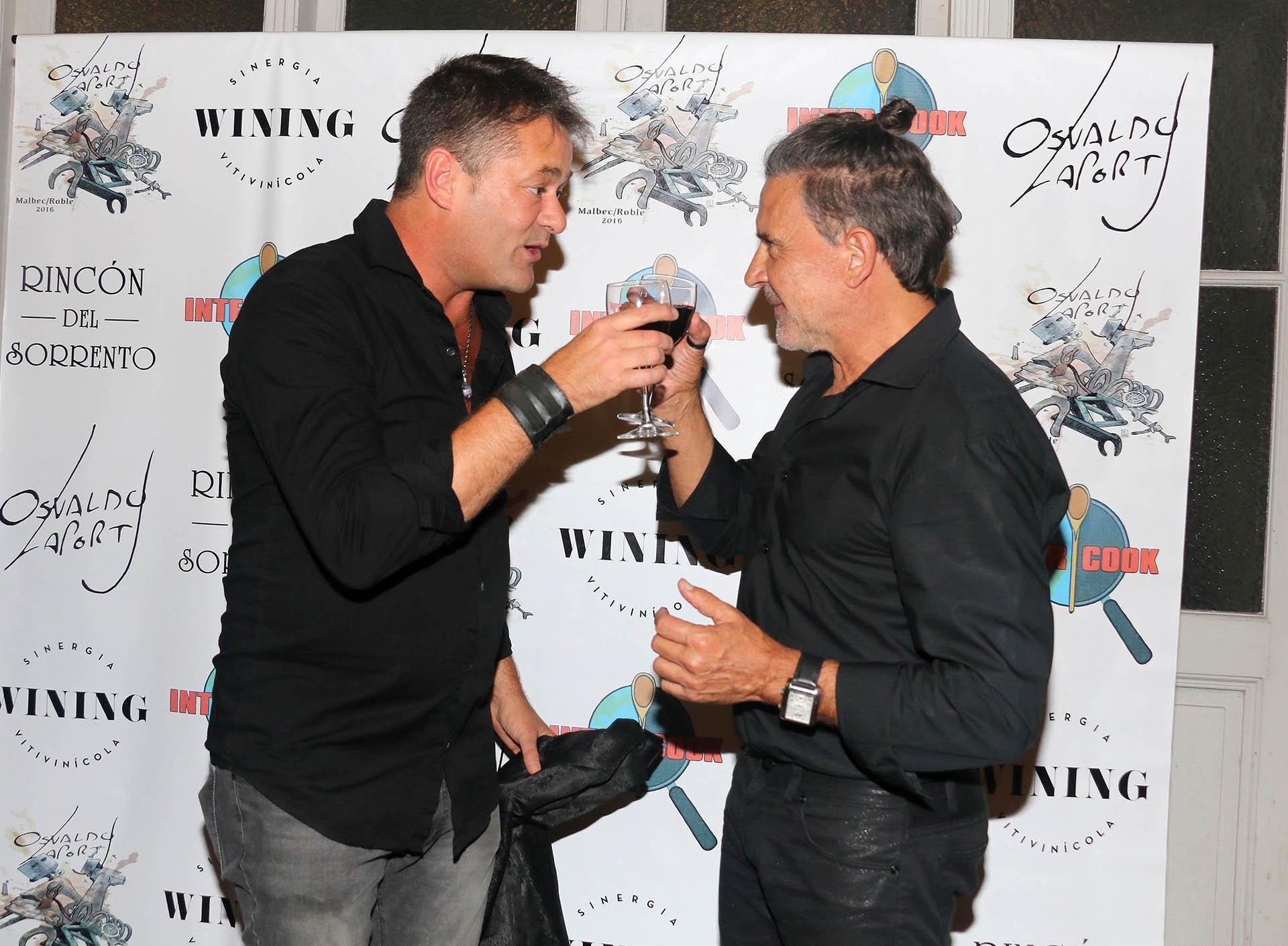 Roberto Peña y Osvaldo Laport