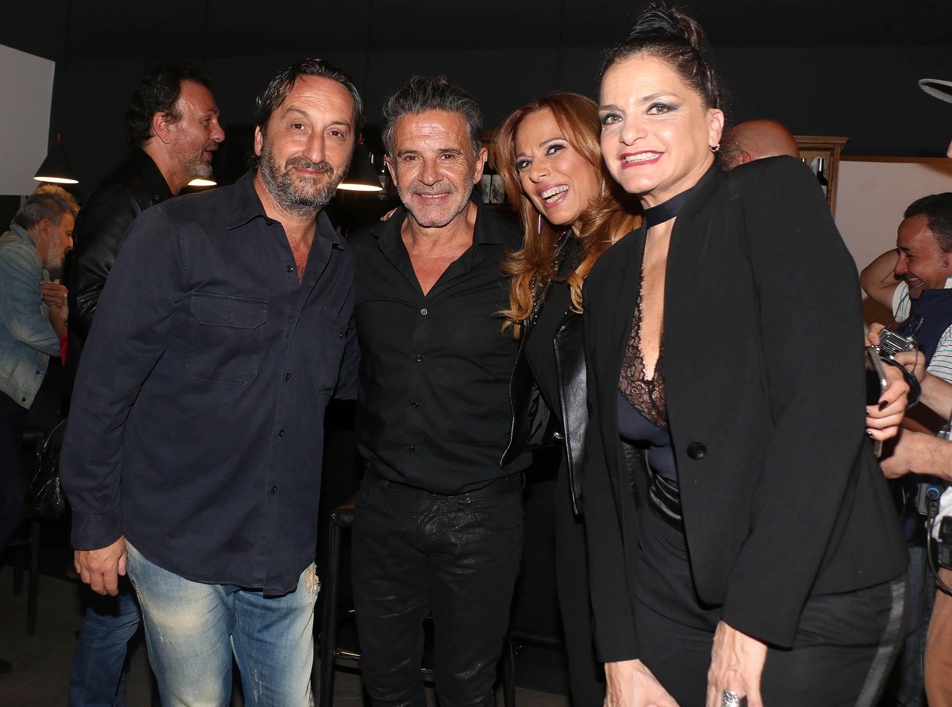Antonello Grandolfo, Osvaldo Laport, Iliana Calabró y Viviana Sáenz