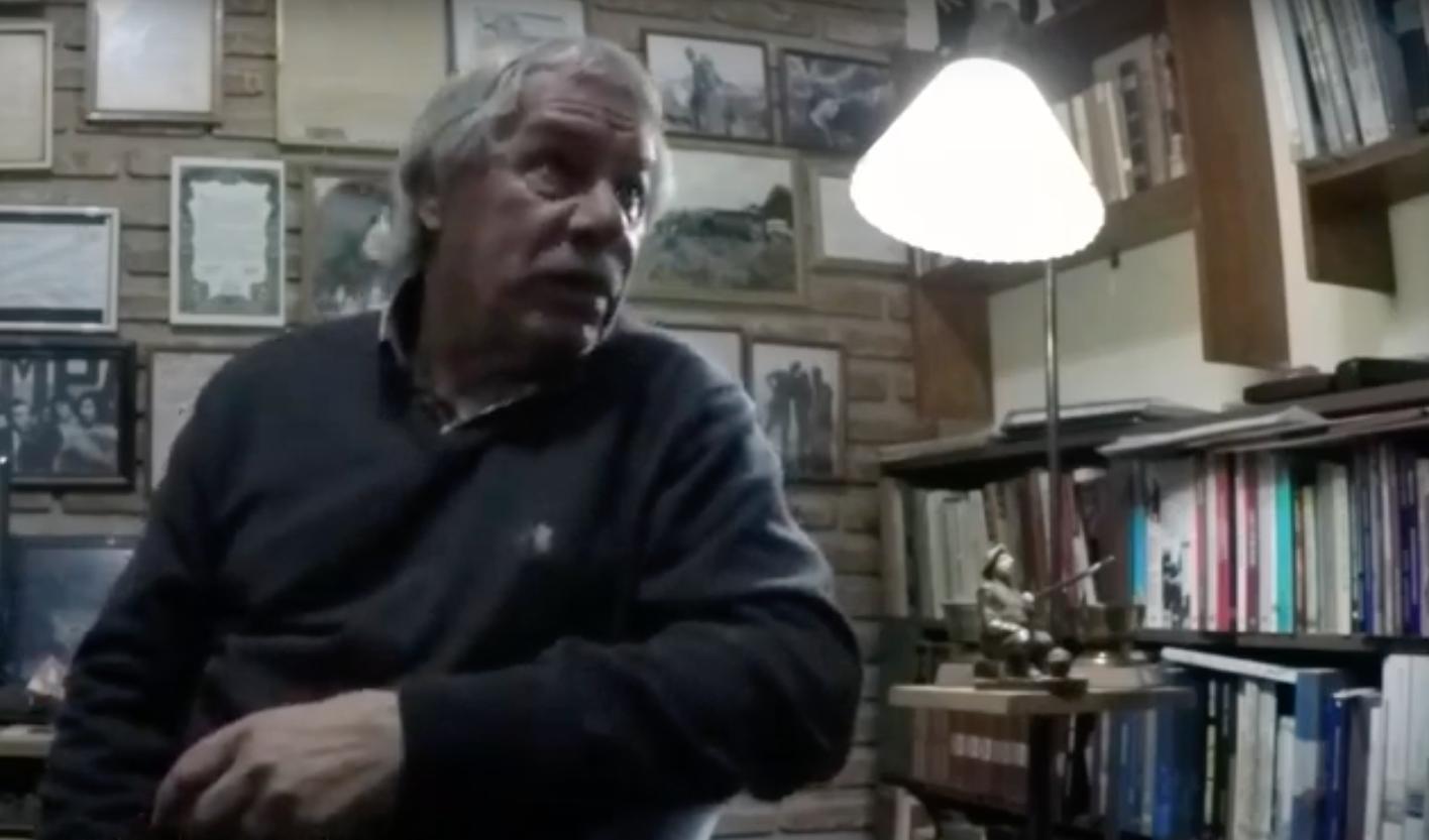 Carlos Bozzi es uno de los sobrevivientes dela represión alos abogados. (YouTube/Oscar Flores)