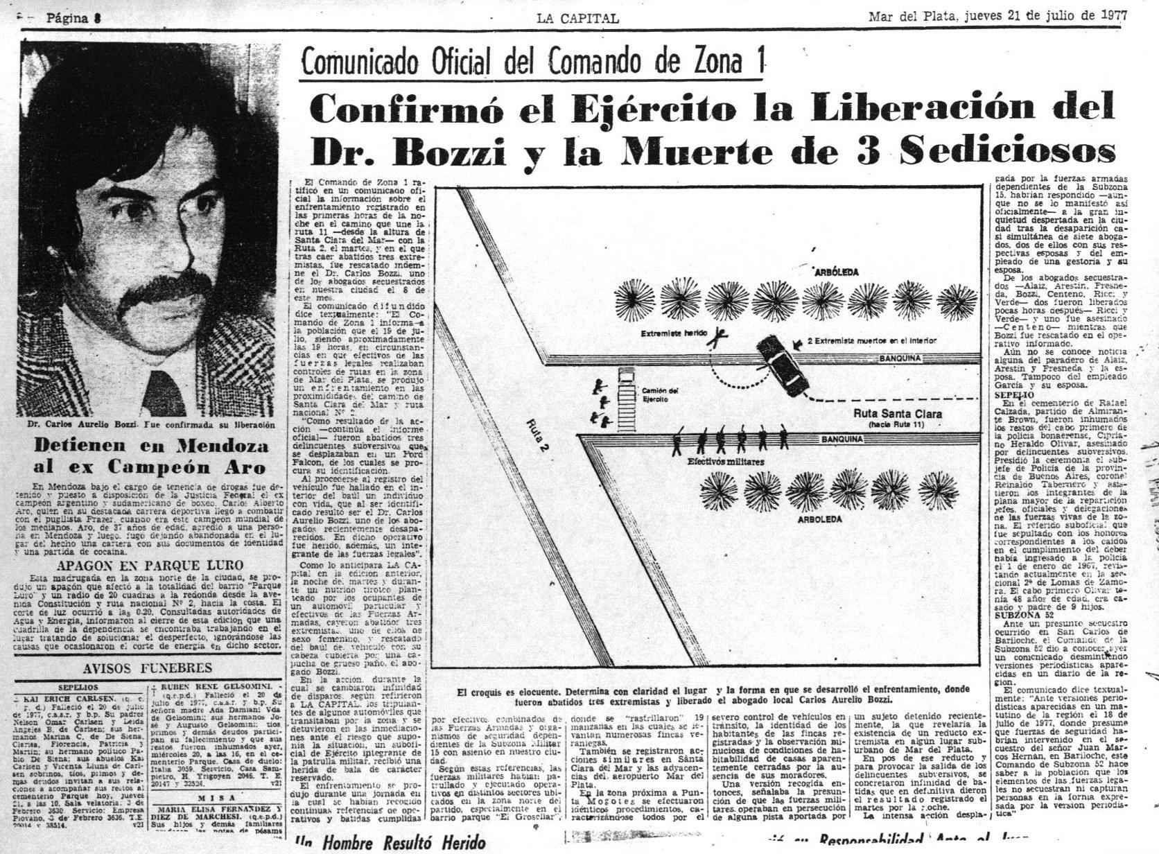 Los militares intentaron responsabilizar a la guerrilla peronista Montoneros por el secuestro de los abogados marplatenses en 1977 (Carlos Bozzi)