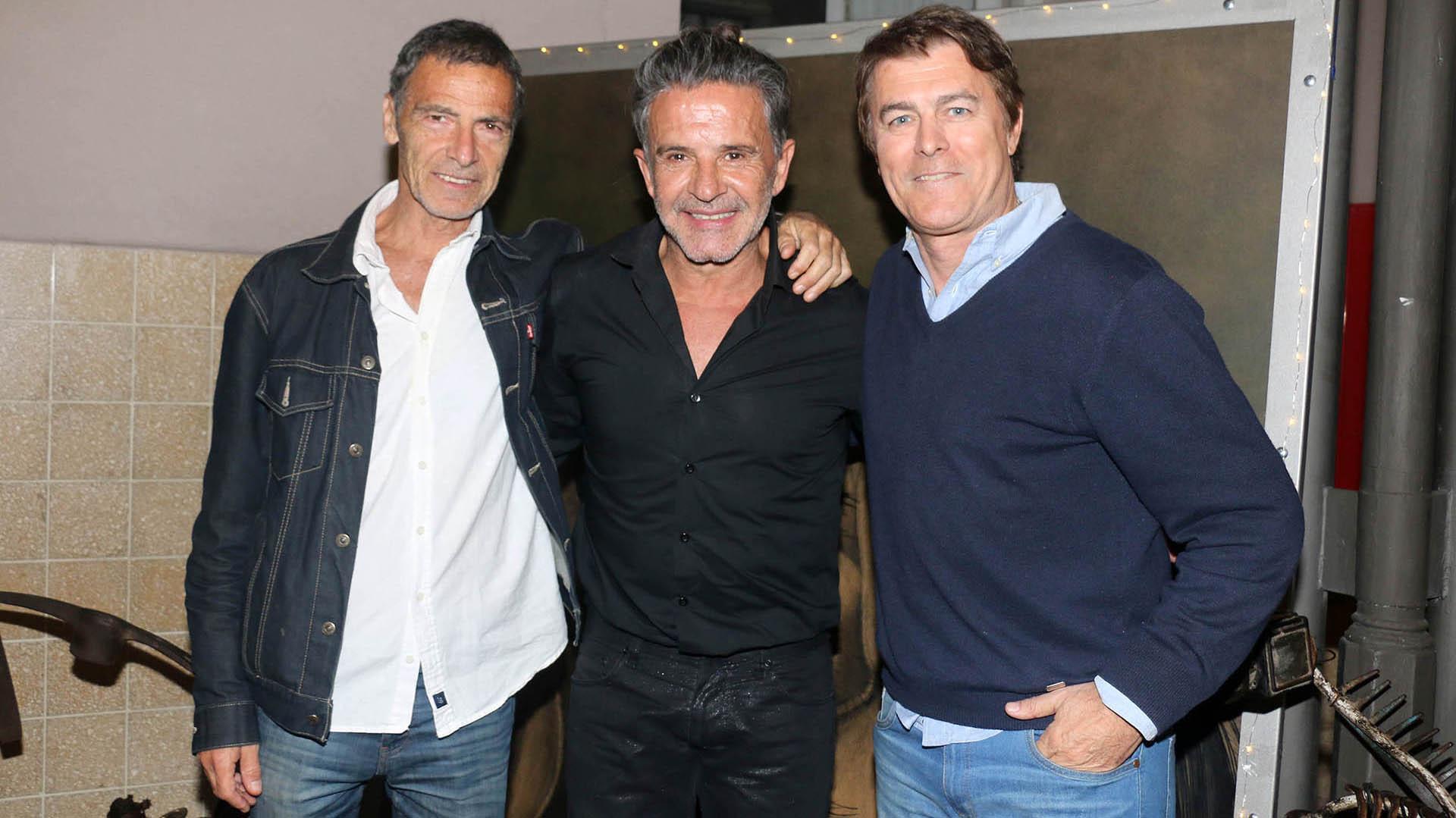 Gustavo Garzón, Osvaldo Laport y Gabriel Corrado
