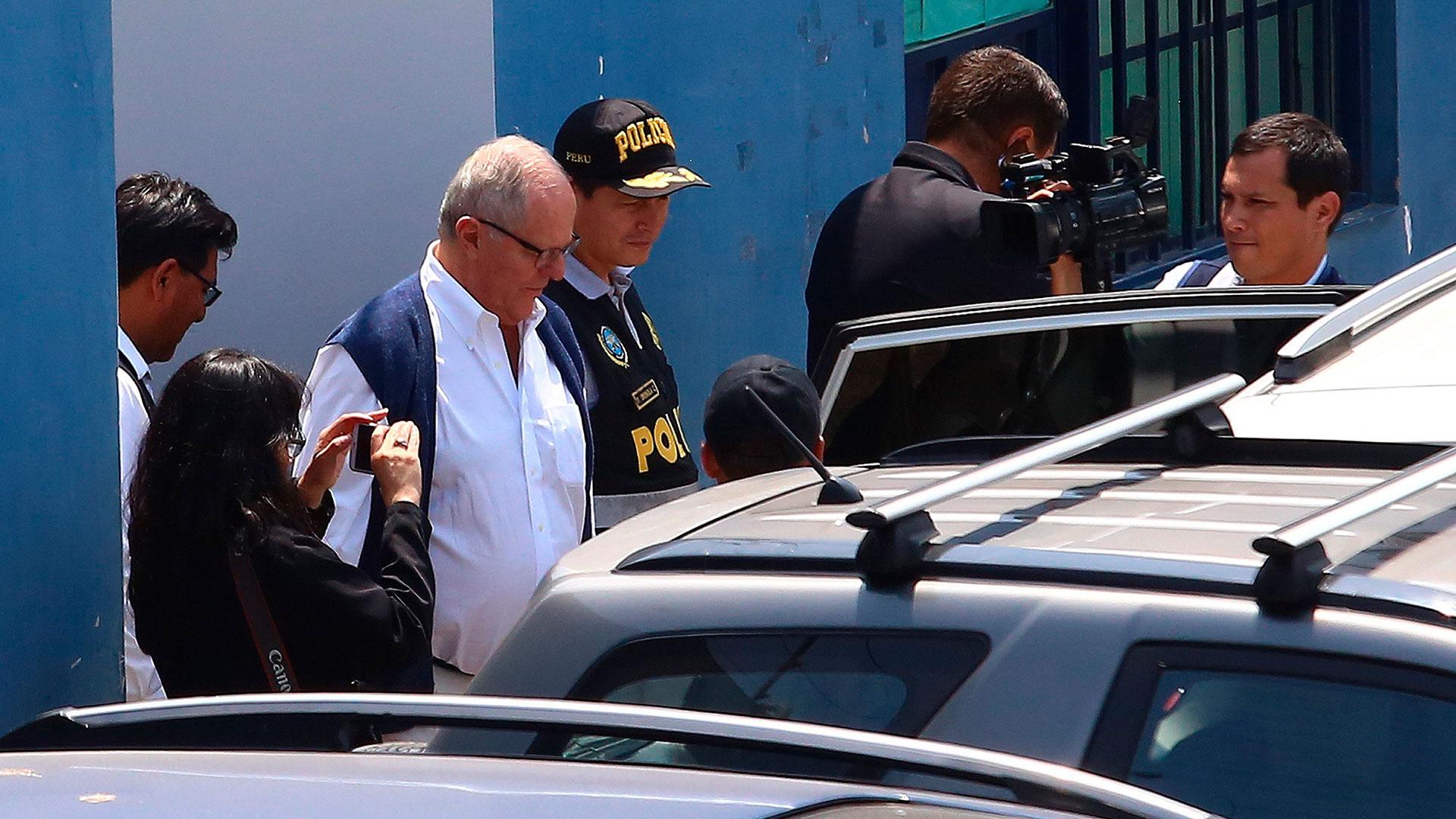 Pedro Pablo Kuczynski detenido, este miércoles (EFE)