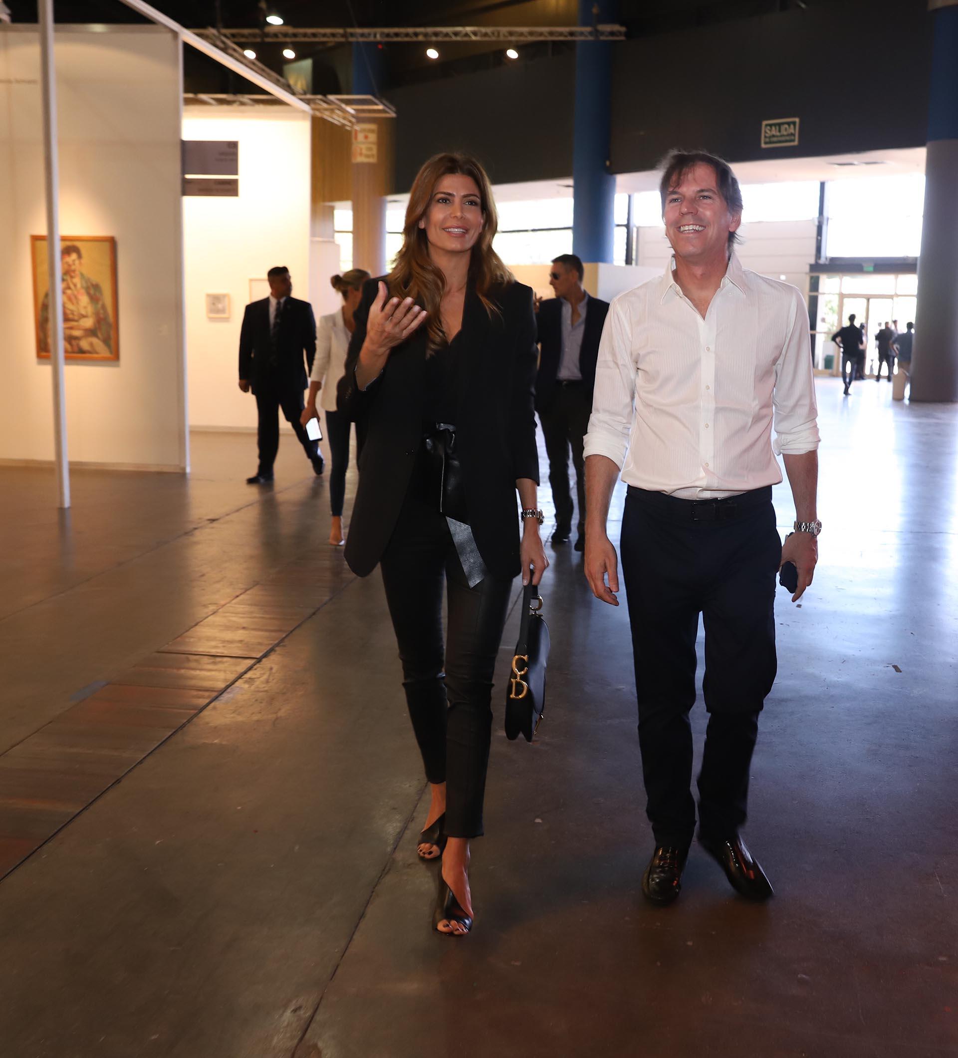 La Primera Dama, Juliana Awada, fue recibida por Alec Oxenford, presidente de Fundación arteBA