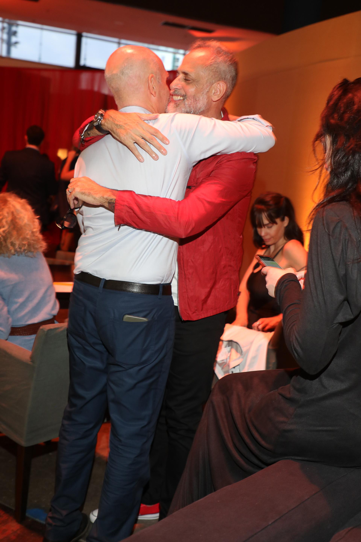 El abrazo entre Horacio Rodríguez Larreta y Jorge Rial