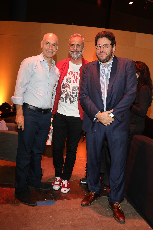Horacio Rodríguez Larreta, Jorge Rial y Pablo Avelluto