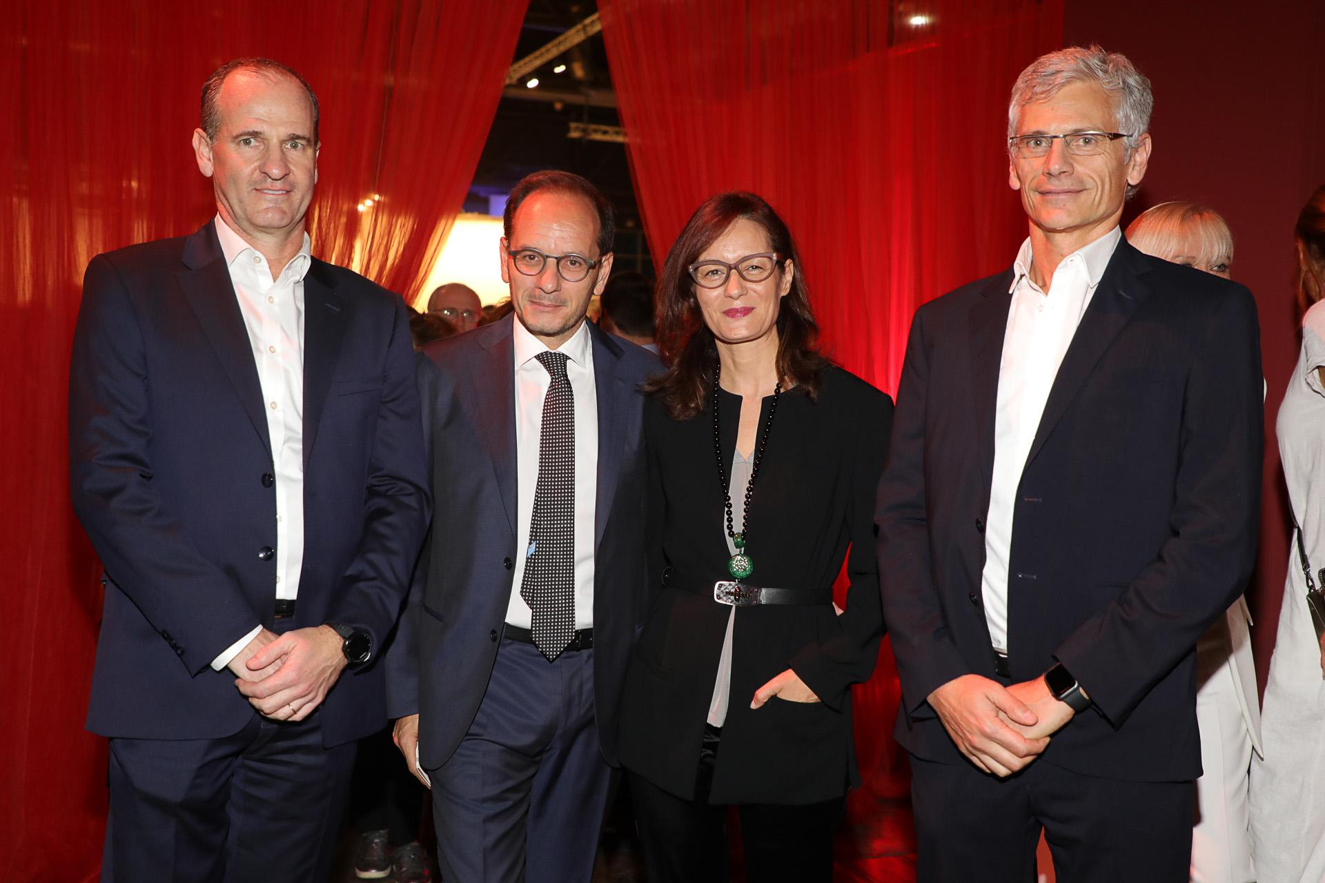 Sergio Lew y Guillermo Tempesta junto al embajador italiano en nuestro país, Giuseppe Manzo
