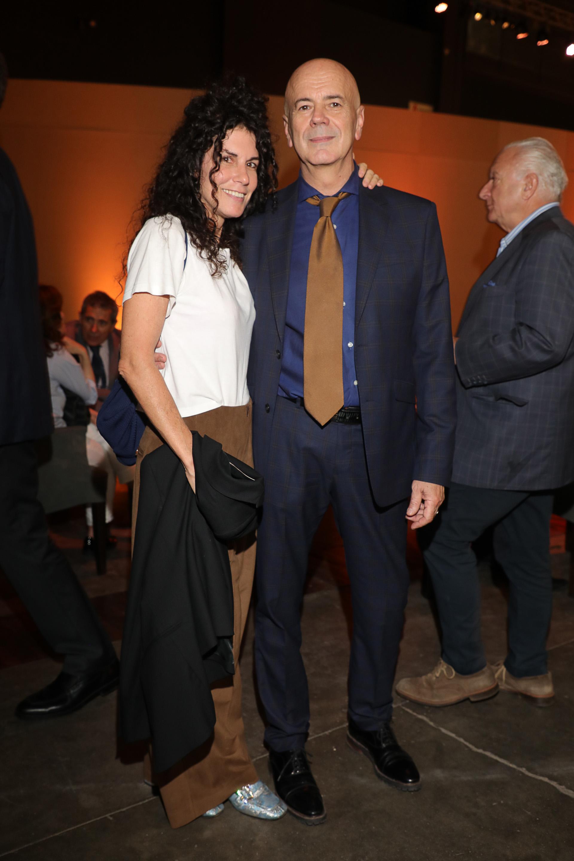 La artista plástica Cynthia Cohen y el director del Complejo Teatral de Buenos Aires, Jorge Telerman