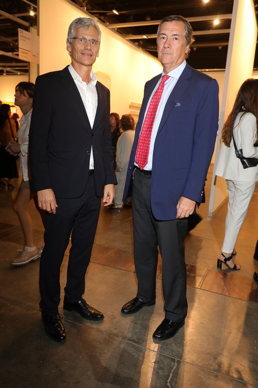 Guillermo Tempesta y Enrique Cristofani, vicepresidente y presidente de Santander Río, respectivamente