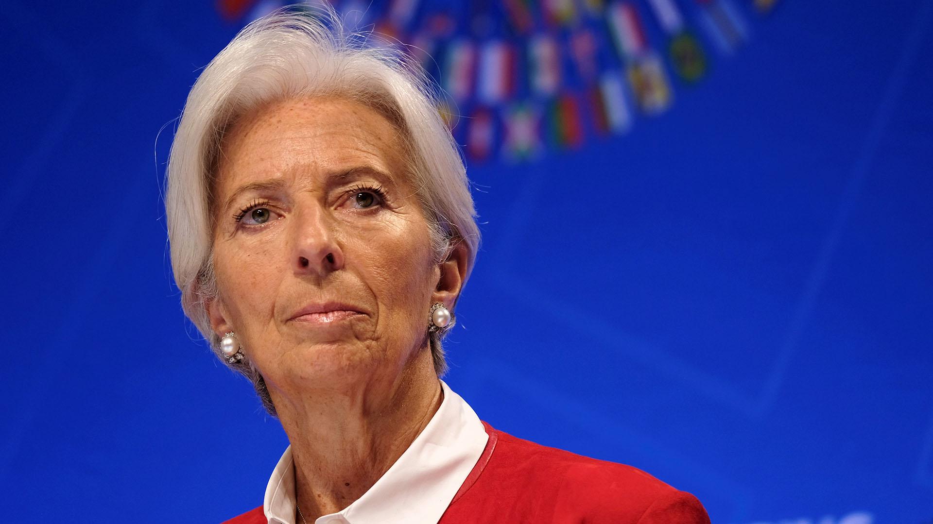 La directora del Fondo Monetario Internacional, Christine Lagarde, durante las reuniones del FMI y el Banco Mundial en Washington (REUTERS/James Lawler Duggan)