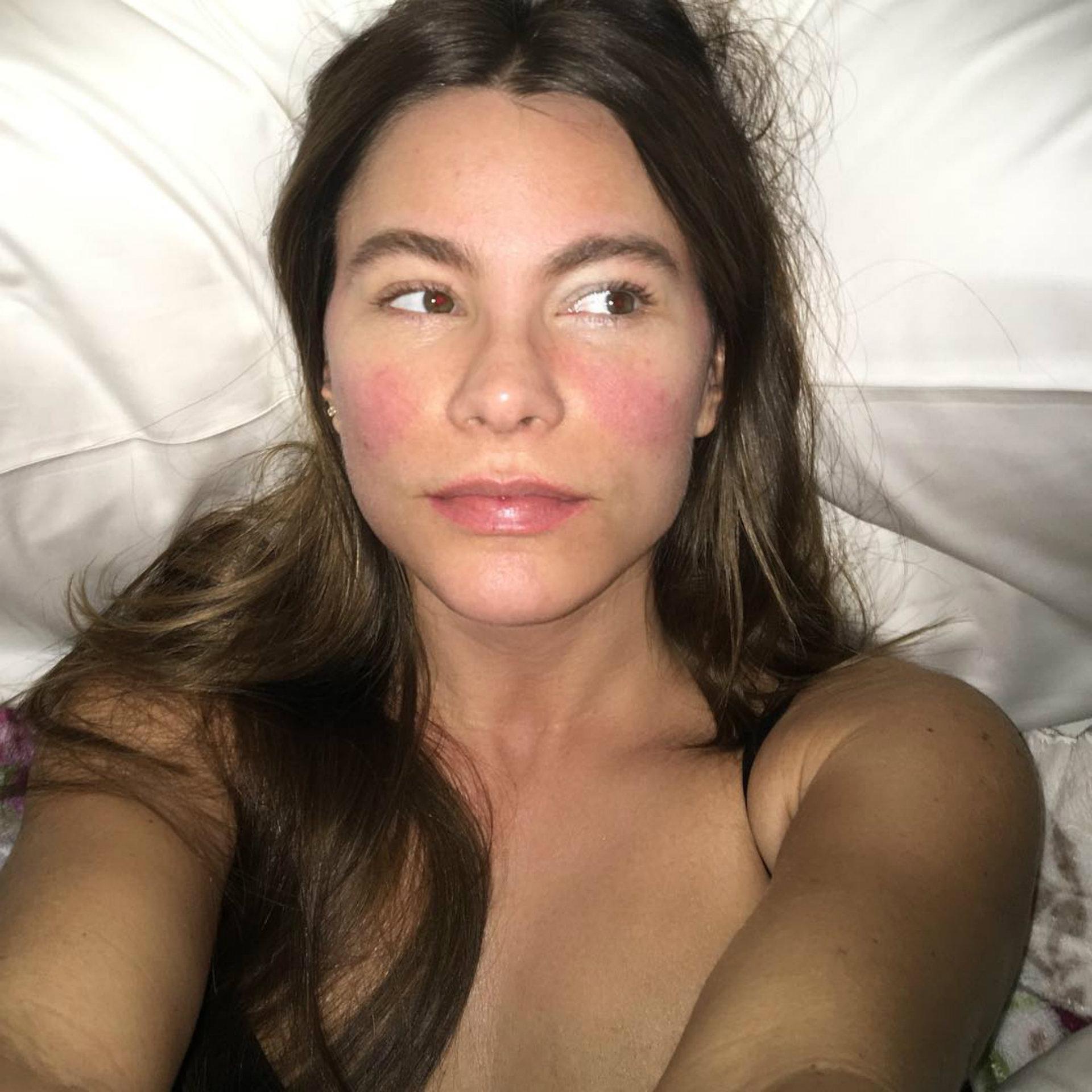 Sofía Vergara se mostró así en medio de una fuerte gripe (Instagram)