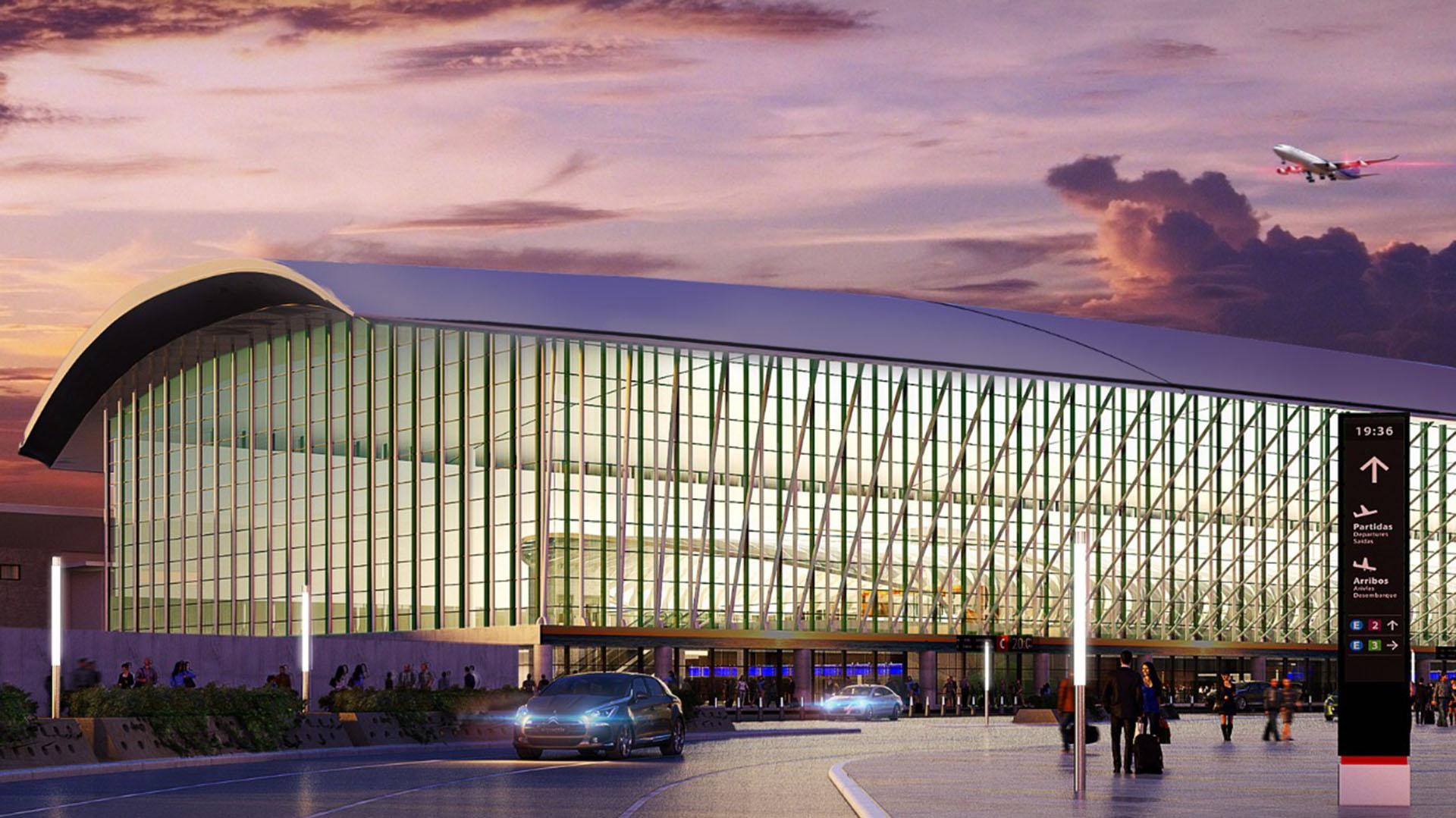 La Terminal de Partidas será tres veces más grande que la Terminal A: 48 mil metros cuadrados tendrá el nuevo hall de partida, en contraste con los 15 mil metros cuadrados de la terminal que se someterá a una reestructuración y un cambio de funciones. Se construyó sobre la base de dónde estaba antes el Aeropuerto que se había edificado para el Mundial de 1978