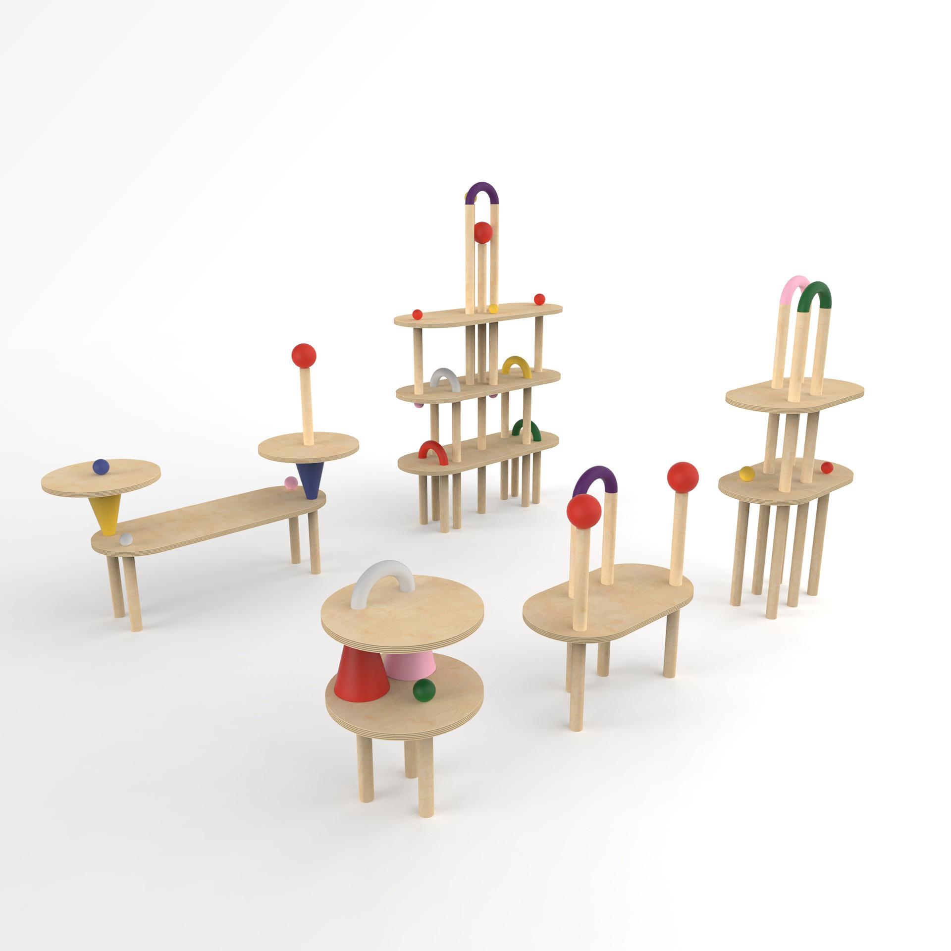 1º Mención especial, el sistema de muebles infantiles Koko Loko.