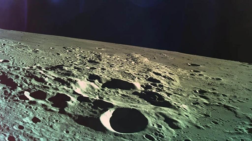 Una de las últimas imágenes de la sonda antes de estrellarse durante el descenso