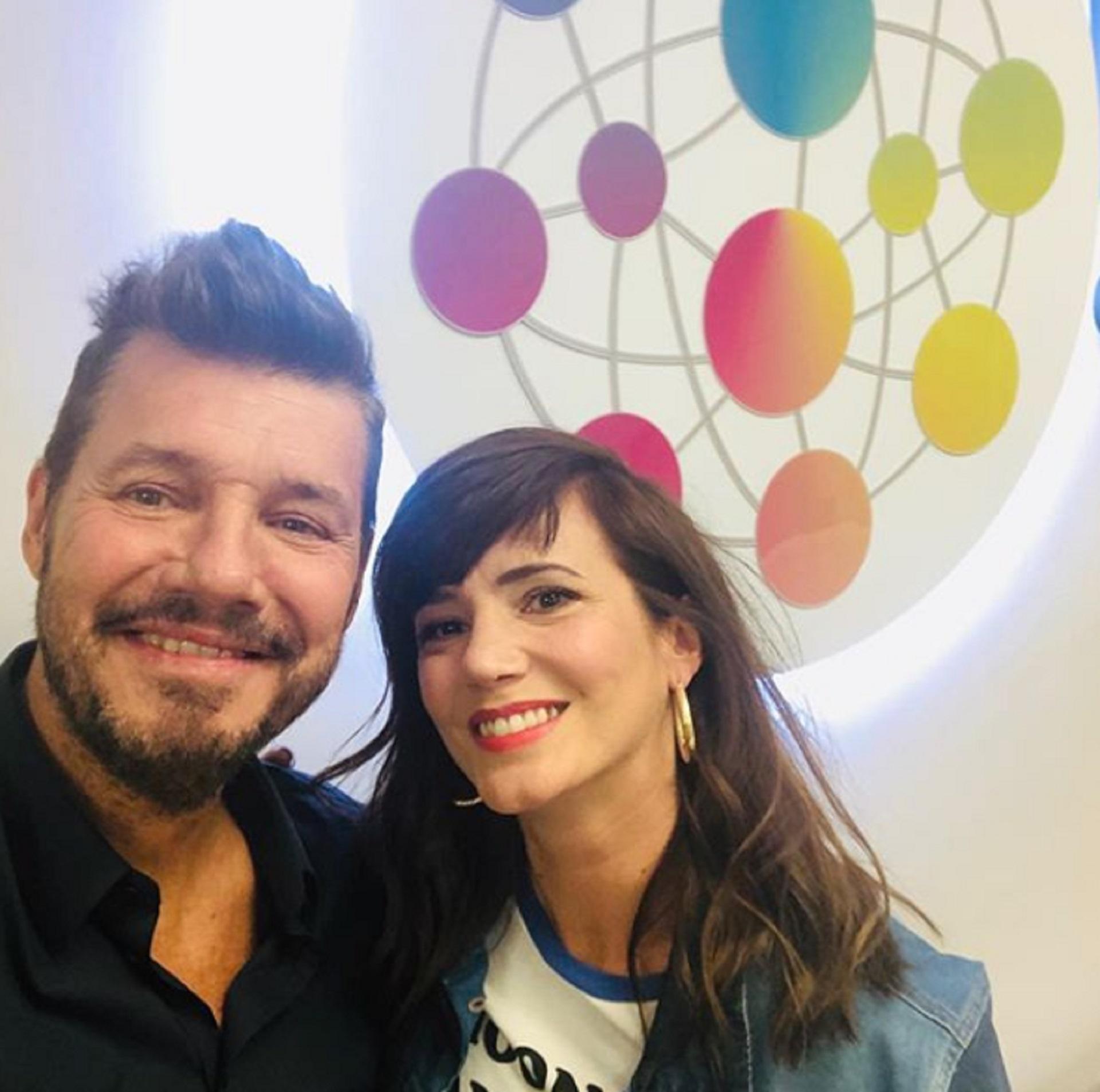 Marcelo Tinelli y Griselda Siciliani (Foto: Instagram/@CuervoTinelli)