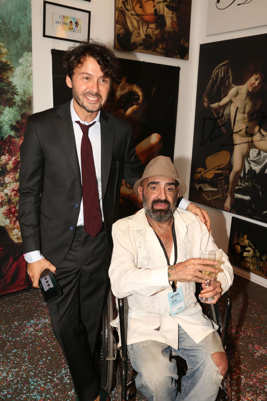 Wally Diamante y el artista Sergio de Loof, ícono de los 90