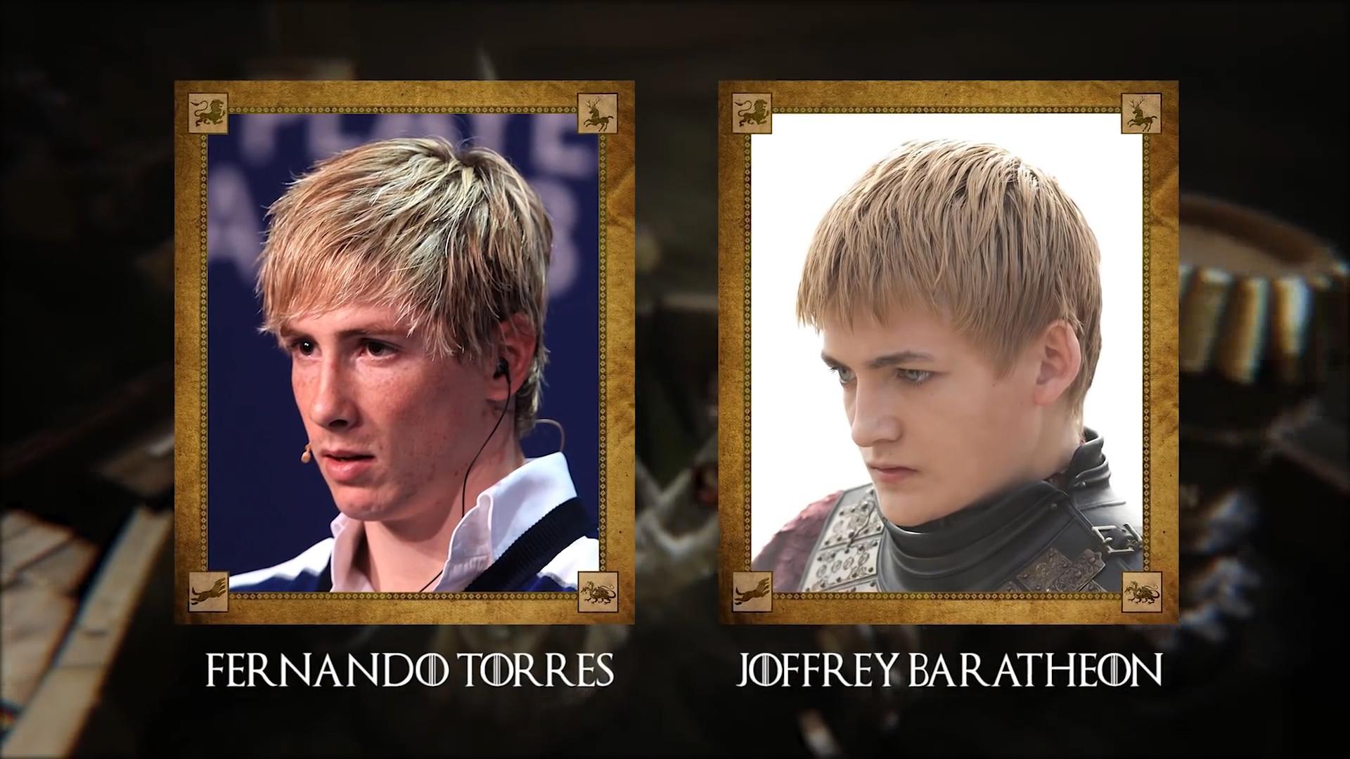 Fernando Torres (futbolista español del Sagan Tosu) con Joffrey Baratheon