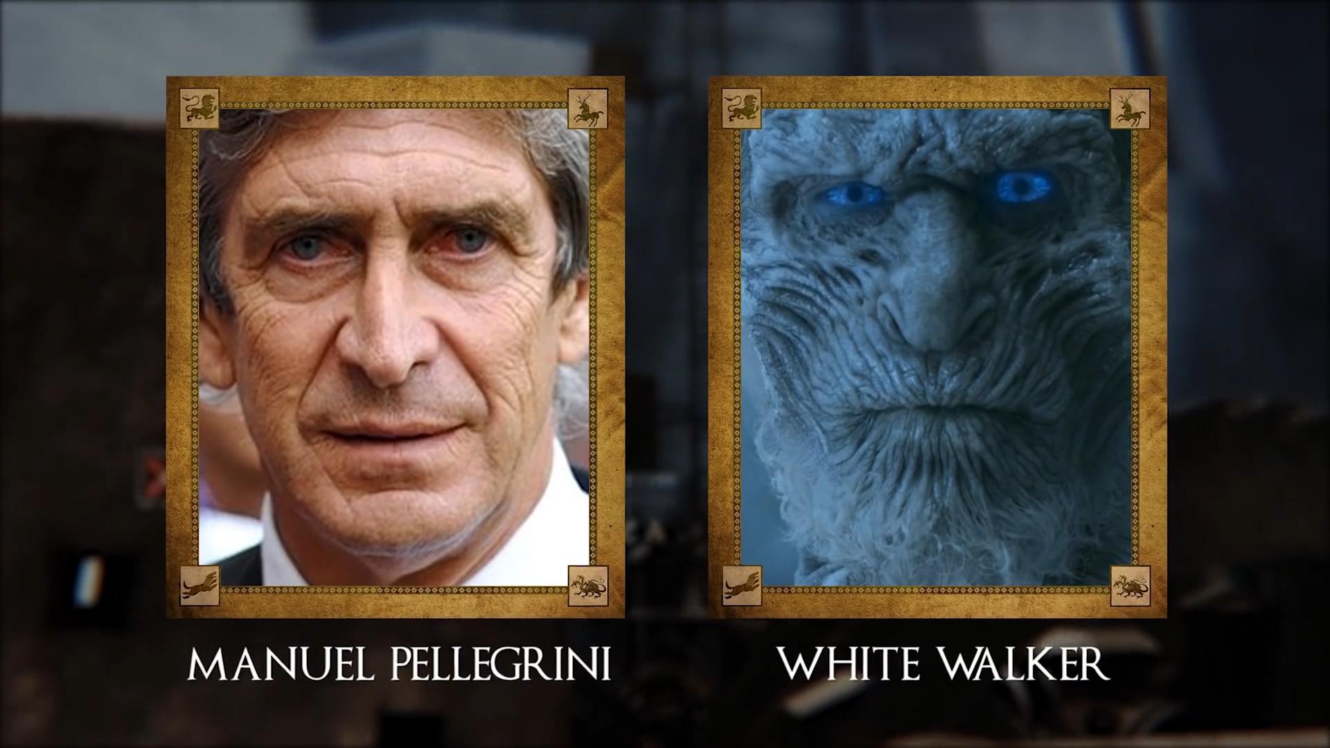 Manuel Pellegrini (ex futbolista y entrenador chileno) con White Walker