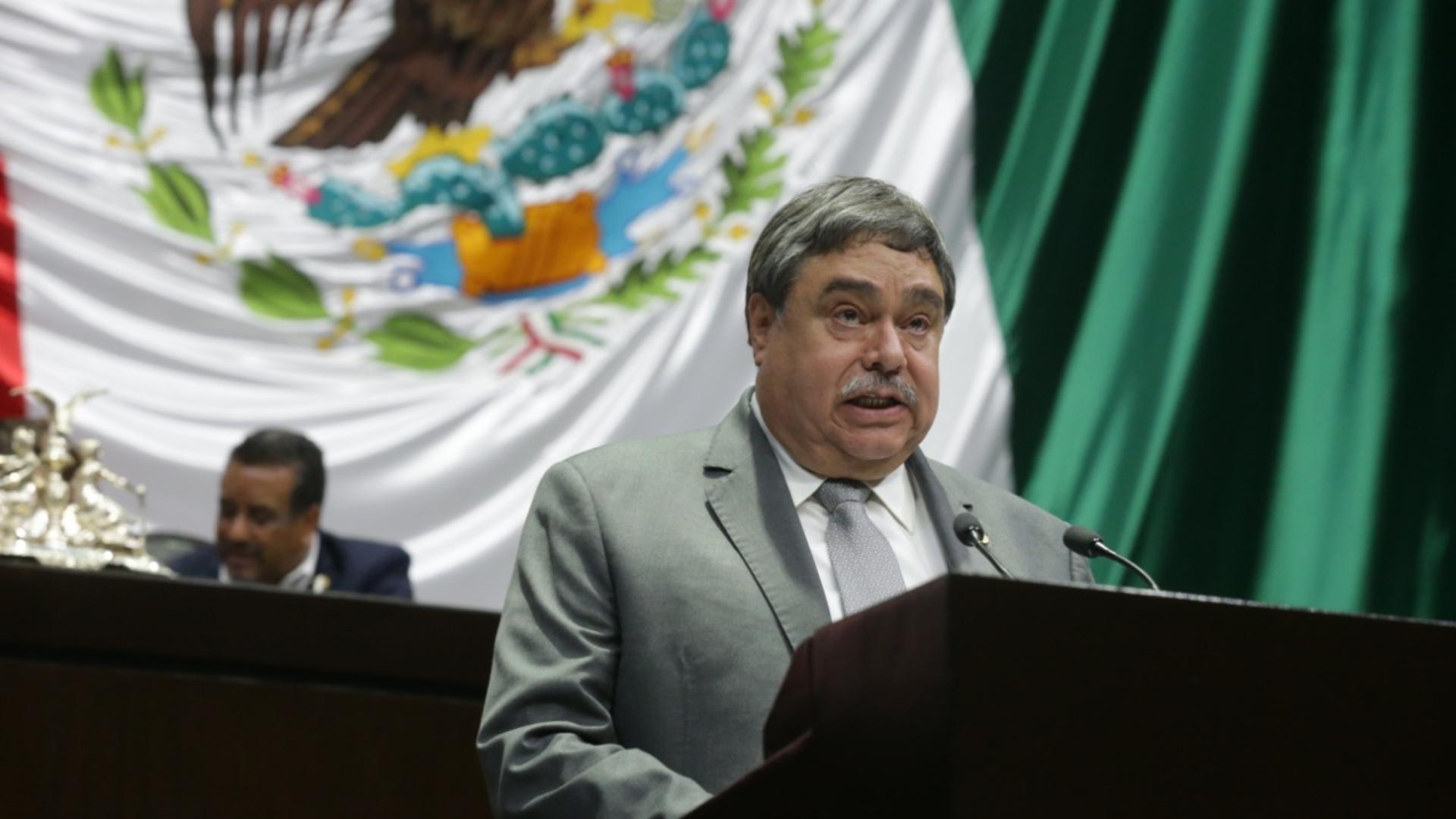 El diputado Carlos Pavón Campos durante su intervención de este jueves en la Cámara de Diputados (Foto: Cortesía)