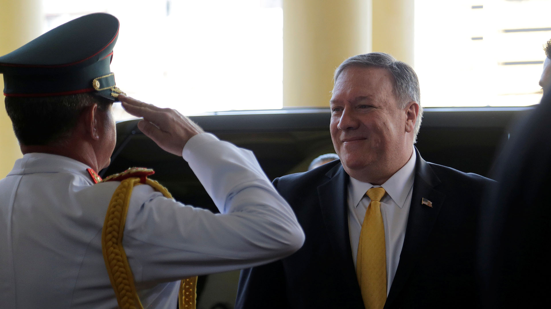 Mike Pompeo en Paraguay (Reuters)