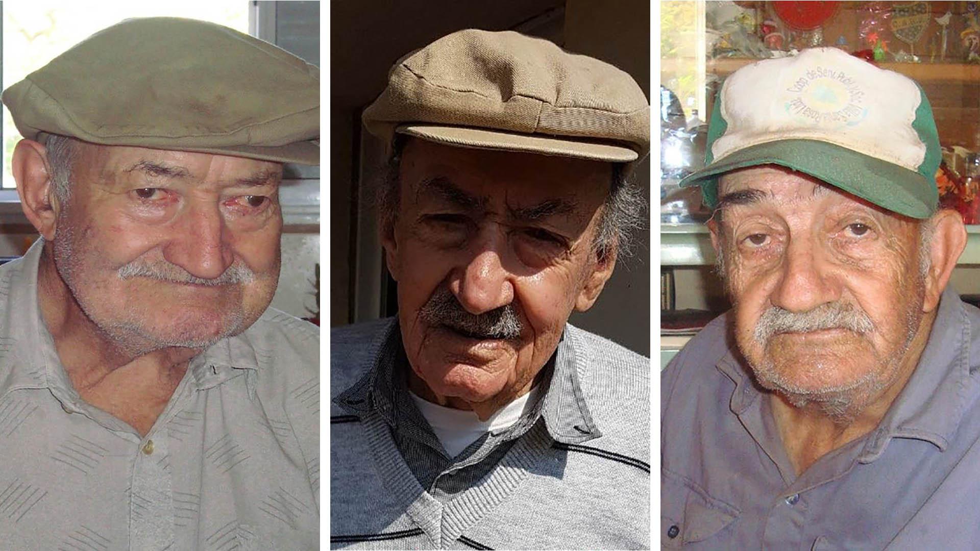 De izquierda a derecha, Isidro, Pedro y Ciriaco Titti