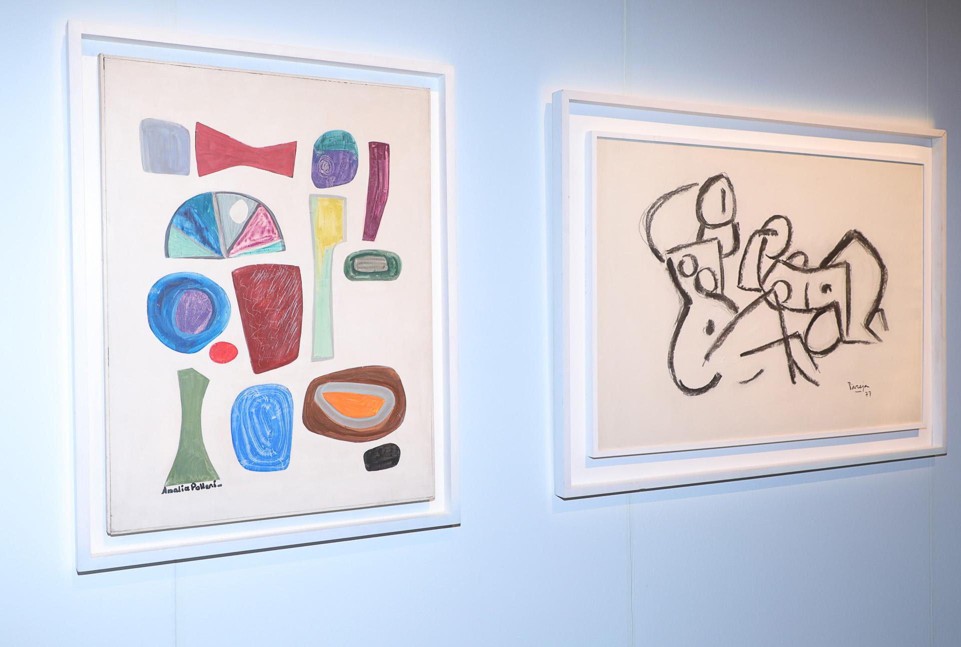 Obras en la galería Sur (Christian Bochichio)