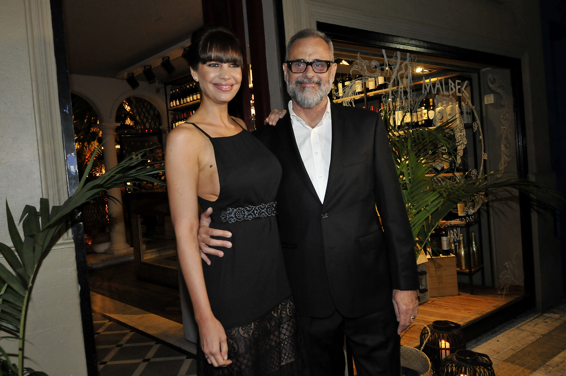 Jorge Rial y su pareja, Romina Pereiro