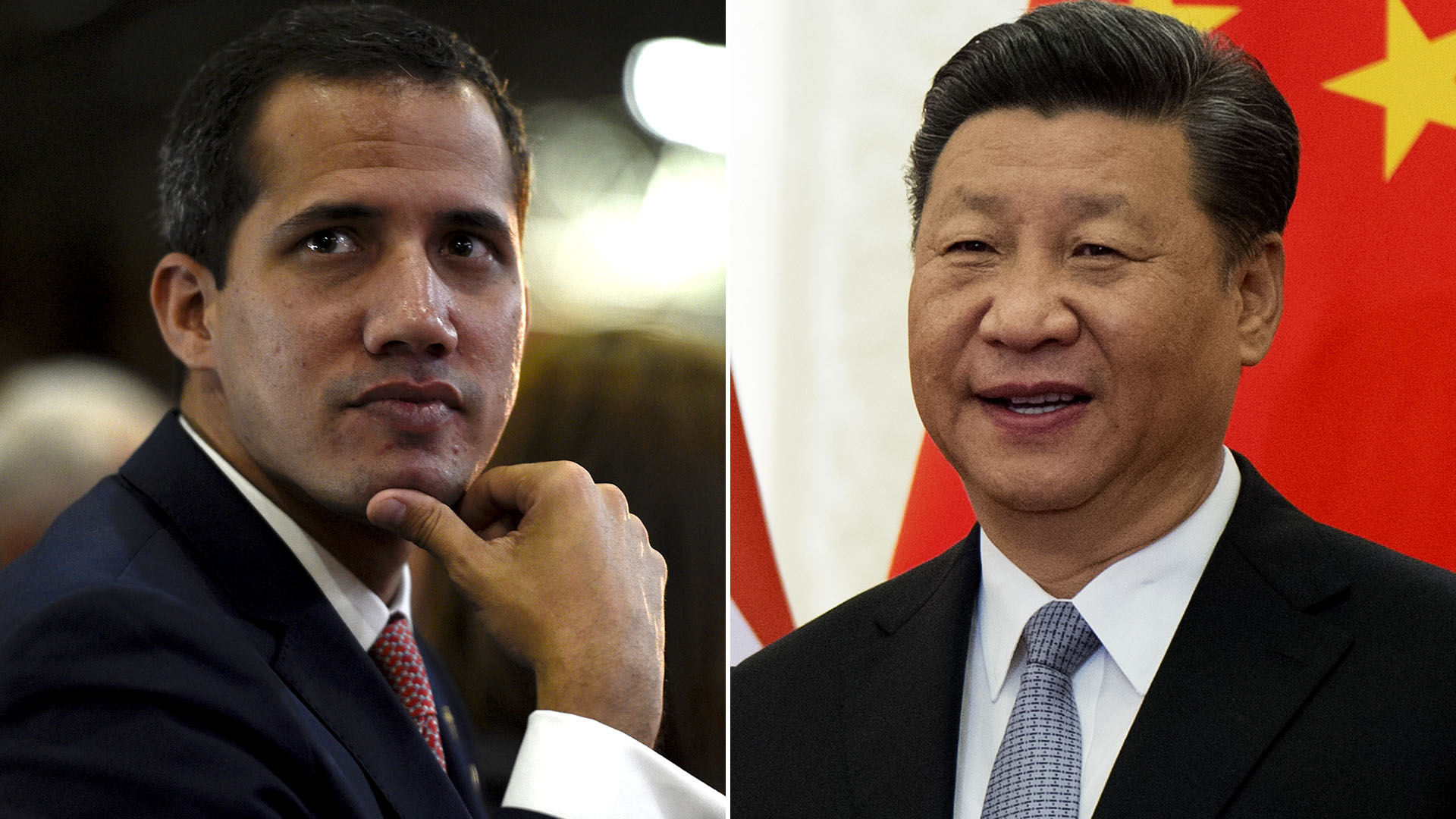 Juan Guaidó, Xi Jinping (AFP)