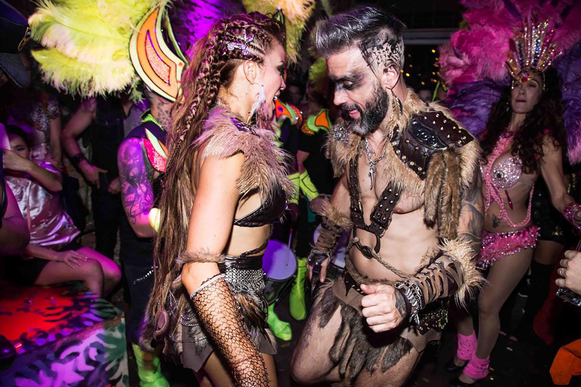 Christian Halbinger y Miriam Lanzoni, danzando