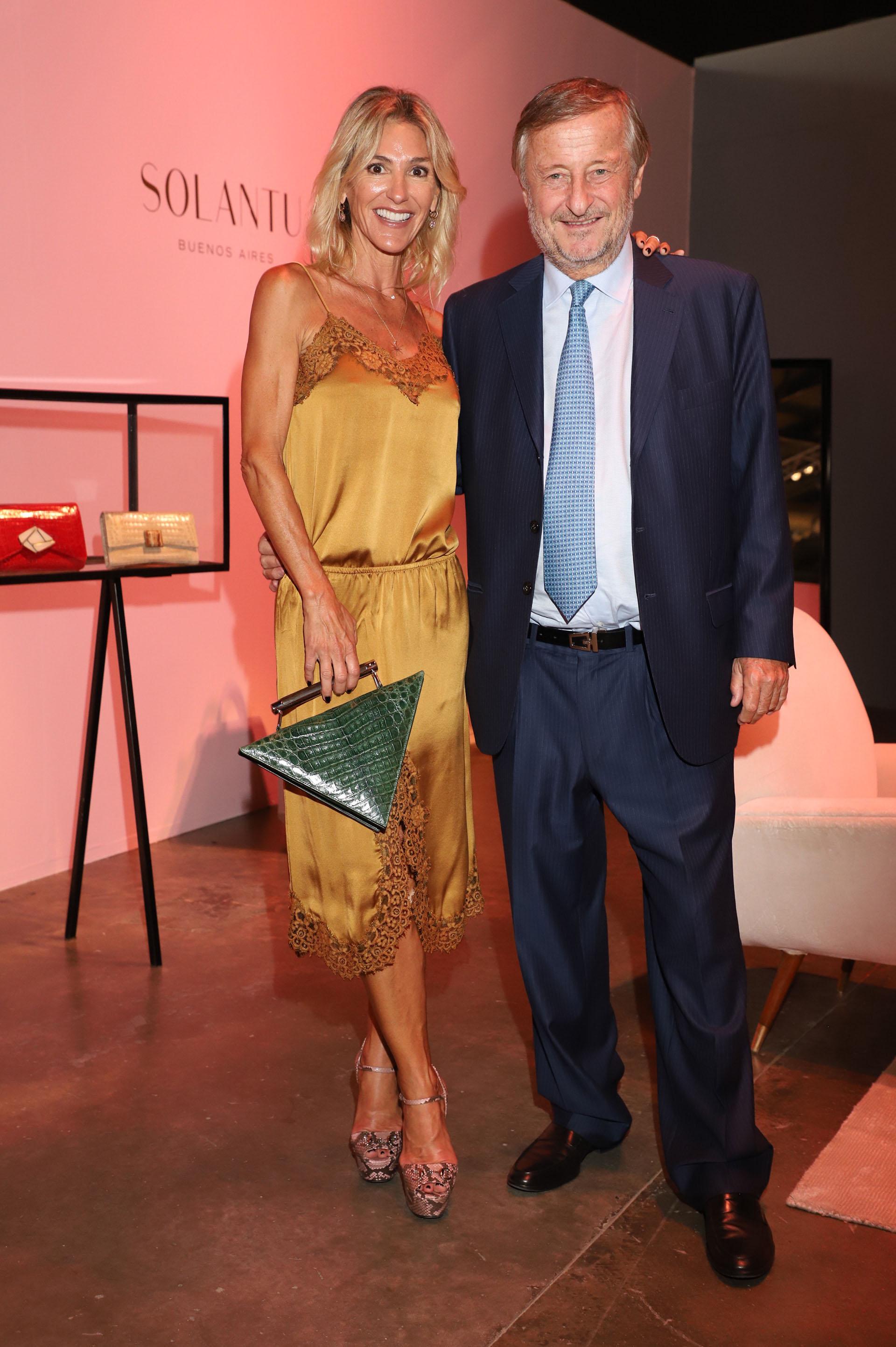 Gabriela Castellani y Cristiano Rattazzi en el lounge