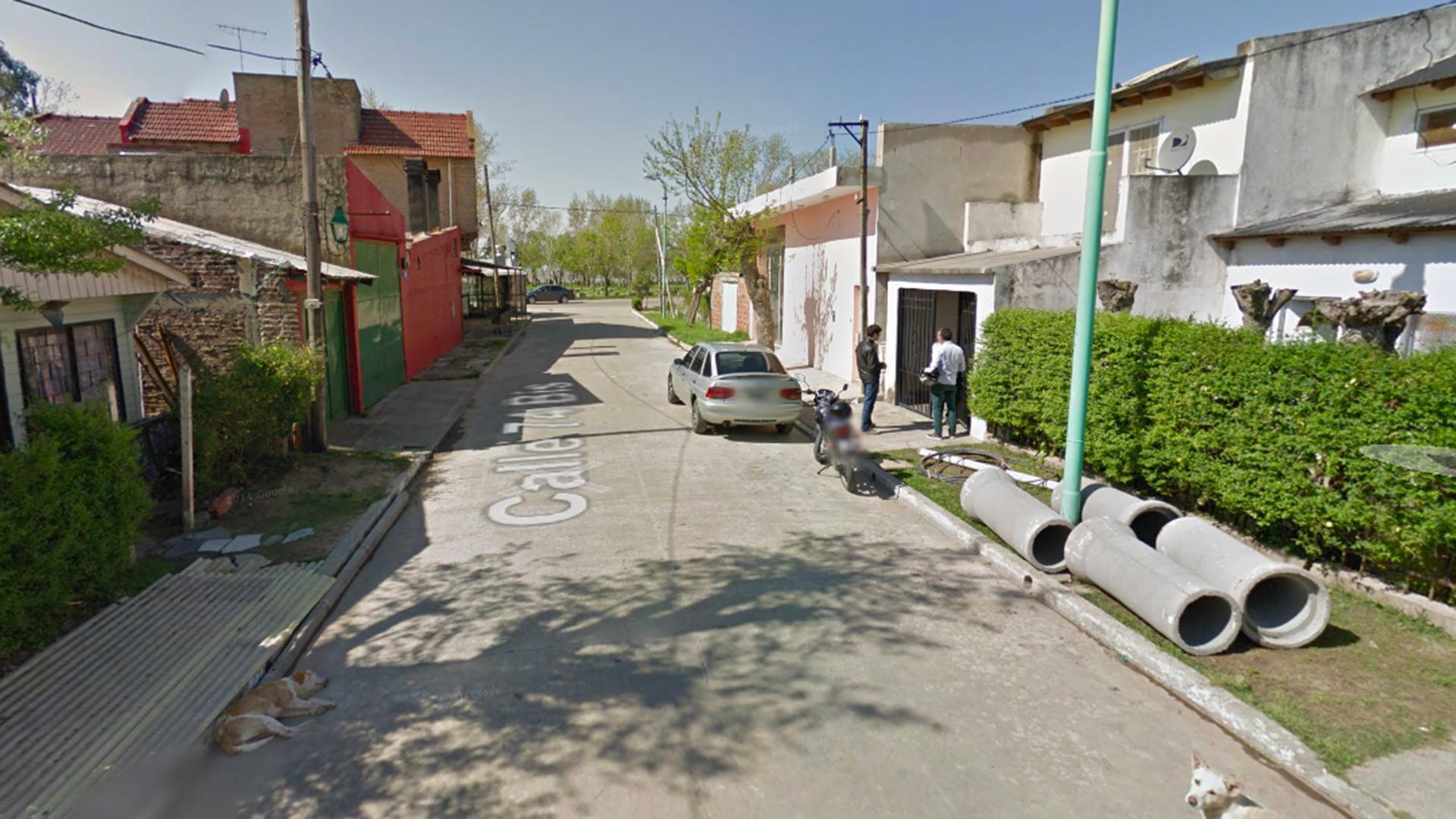 La cuadra de la casa donde ocurrió el abuso, en Punta Lara