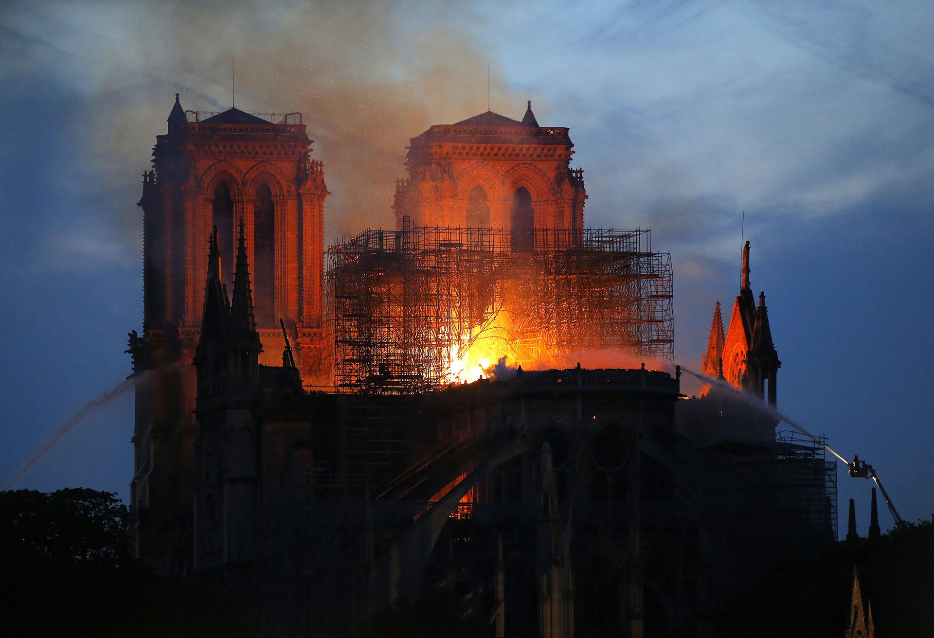 Incendio de Notre Dame (Fuente: Infobae)
