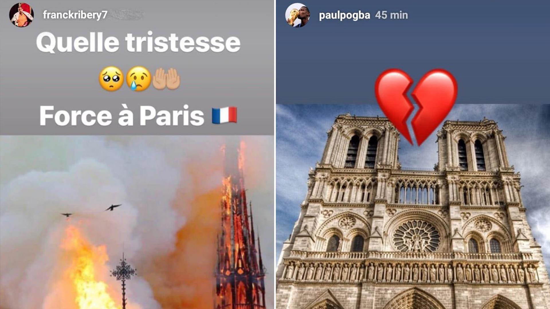 Los posteos de los futbolistas franceses Pogba y Ribery
