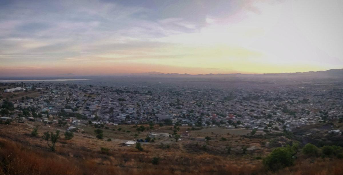 Vista desde el cerro de Chimalhuacán (Foto: @Aldabi)