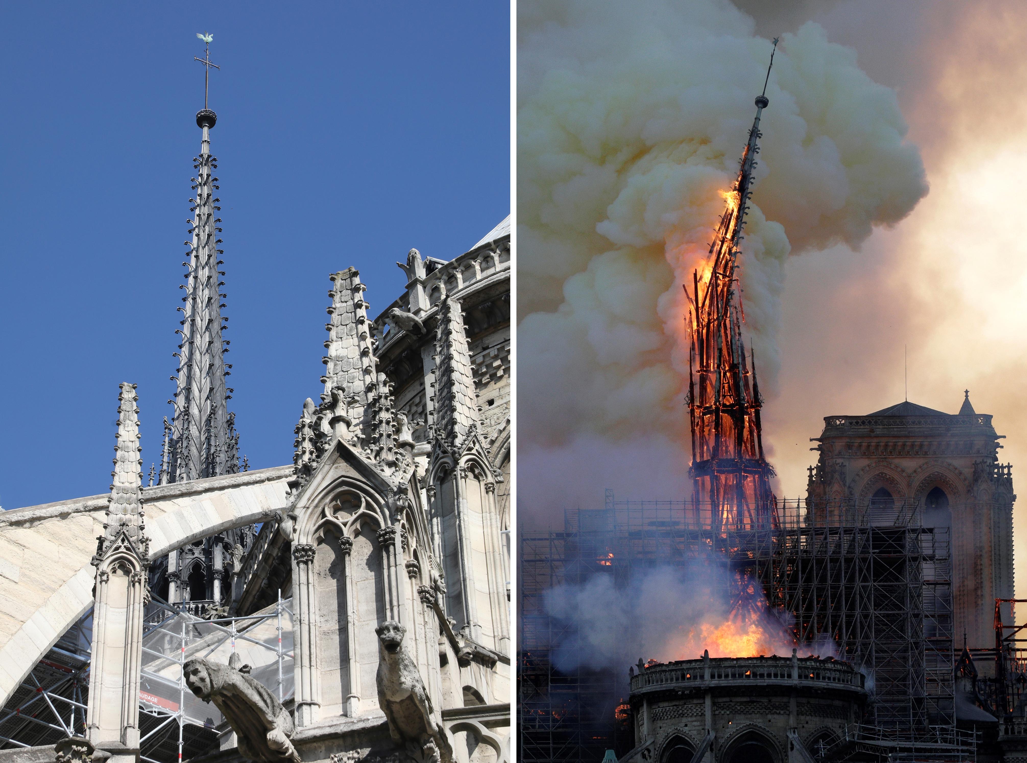 Un ya antes y tras la aguja (Photo by Ludovic MARIN and Geoffroy VAN DER HASSELT / AFP)