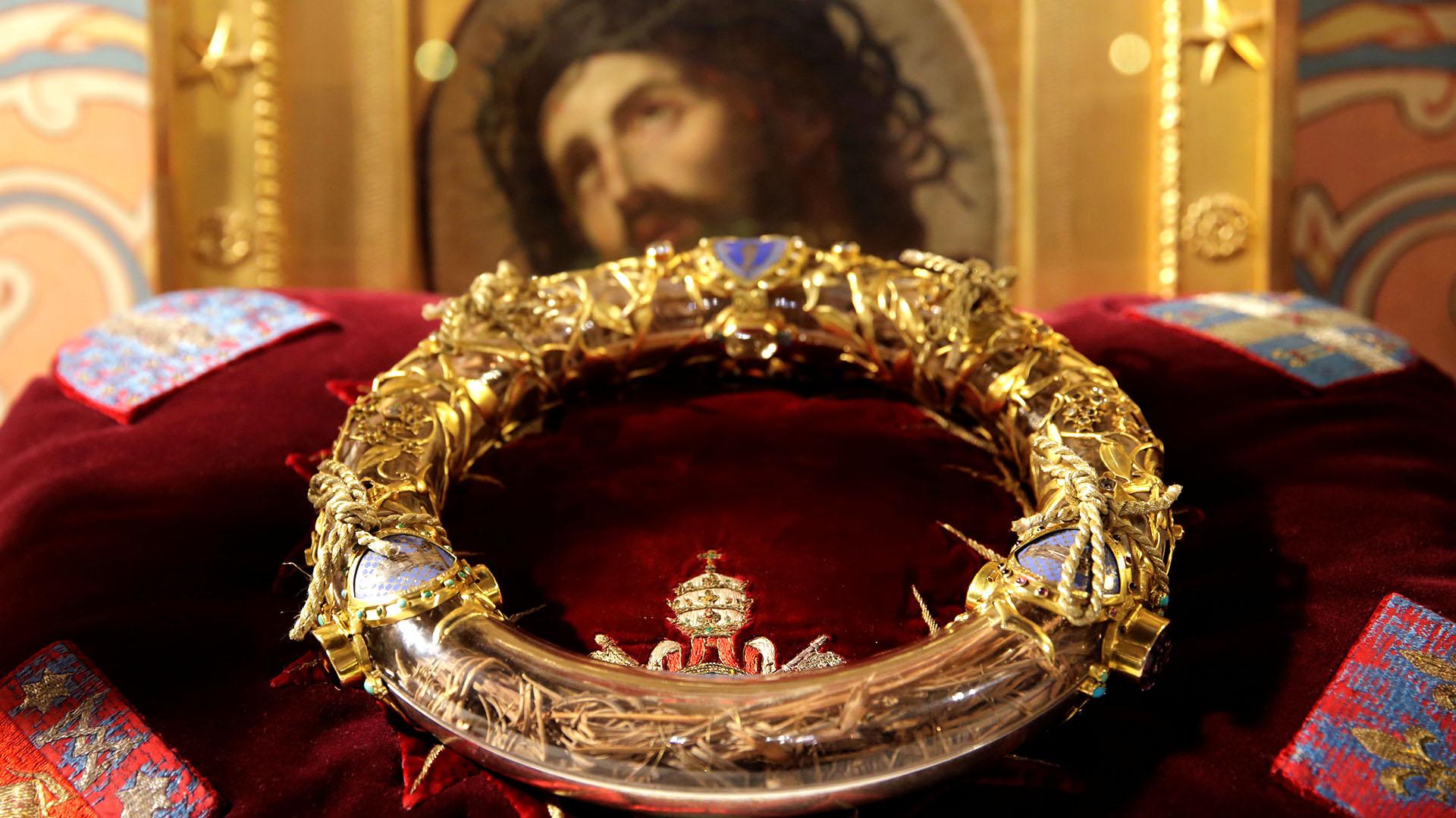 La corona de espinas, fue unas de las reliquias rescatadas del incendio de Notre Dame