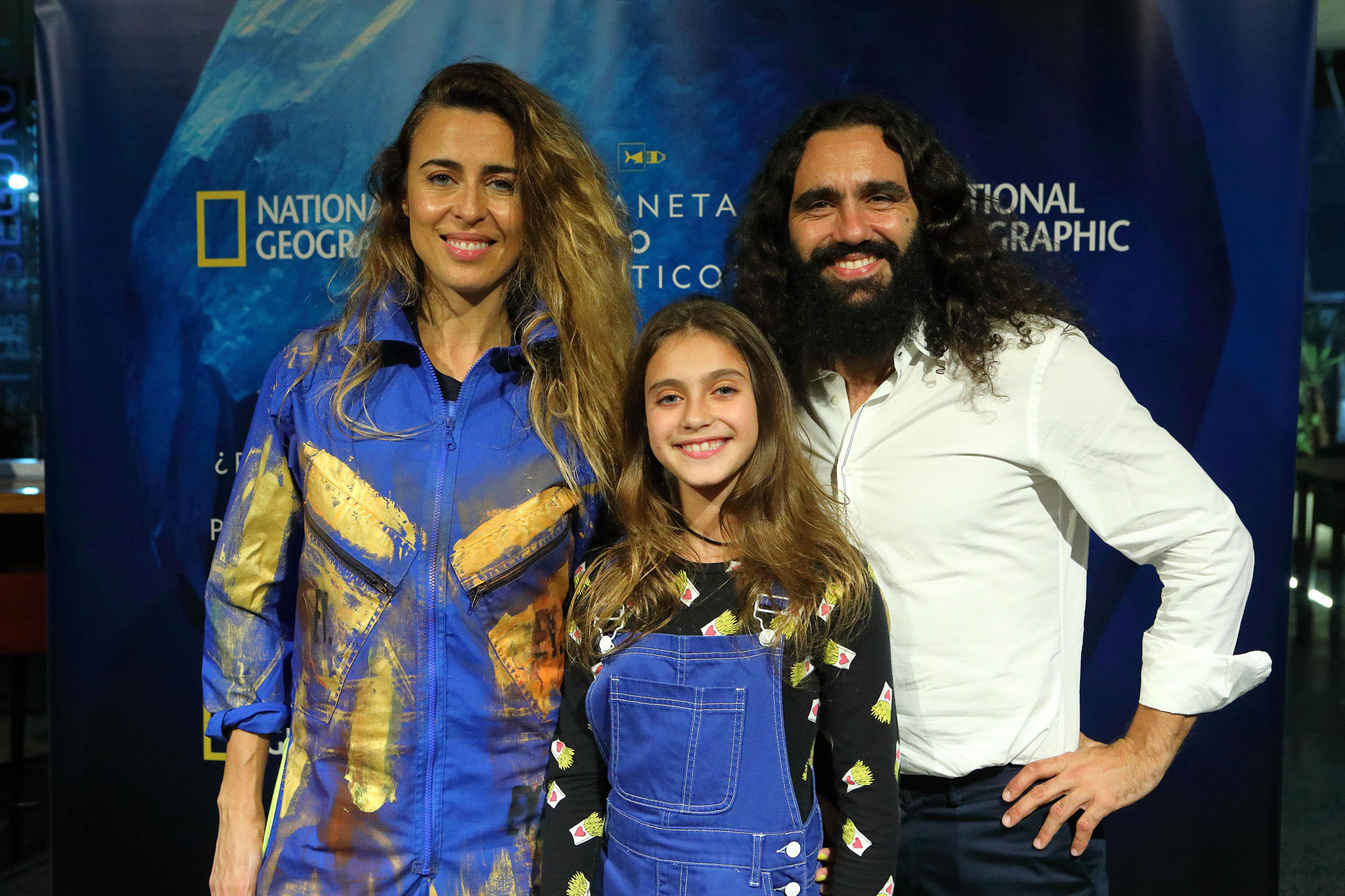 Junto a su esposa Sol y su hija Elisabetta.